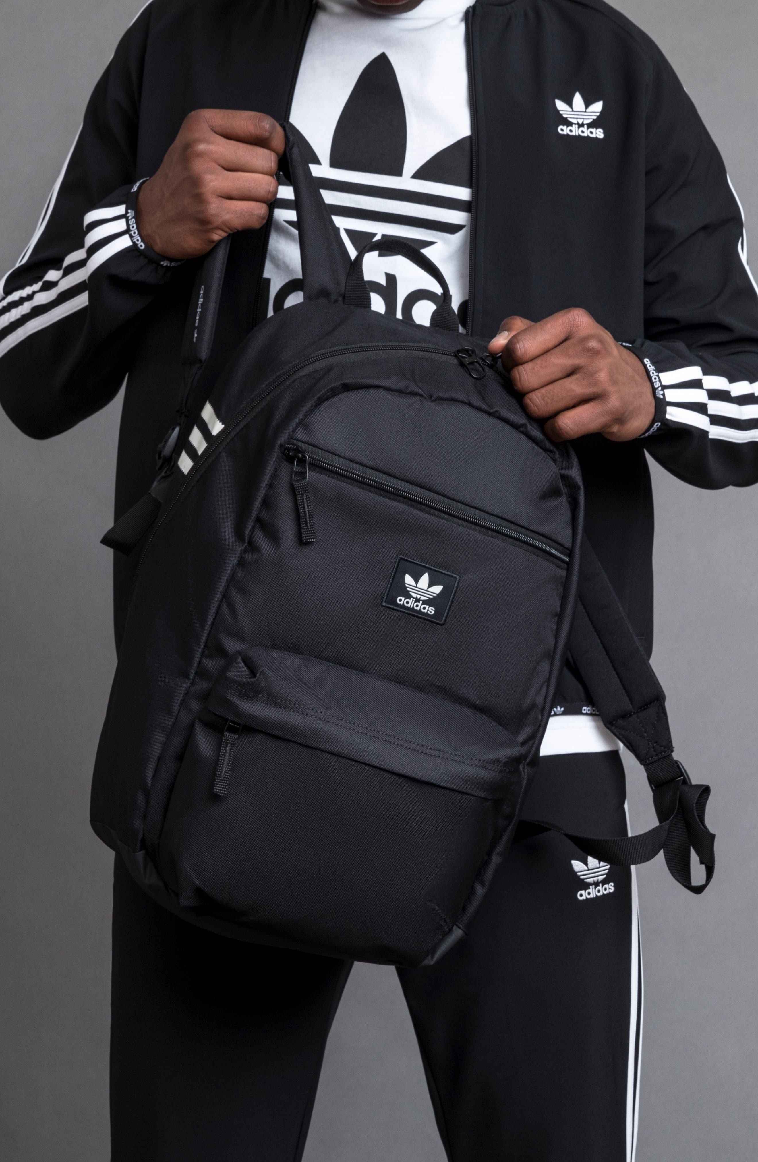 ADIDAS ORIGINALS,                             Nationals Backpack,                             Alternate thumbnail 8, color,                             BLACK