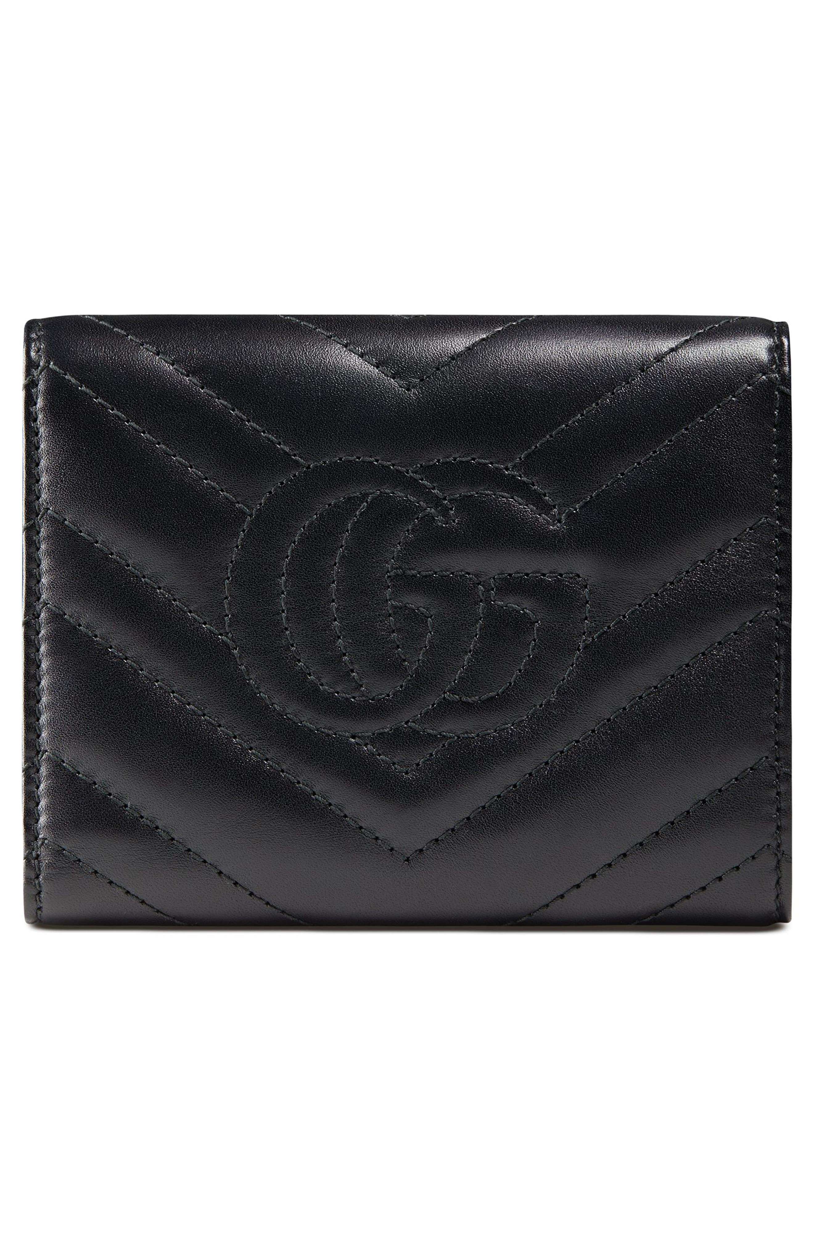 Medium Marmont 2.0 Leather Bifold Wallet,                             Alternate thumbnail 3, color,                             NERO