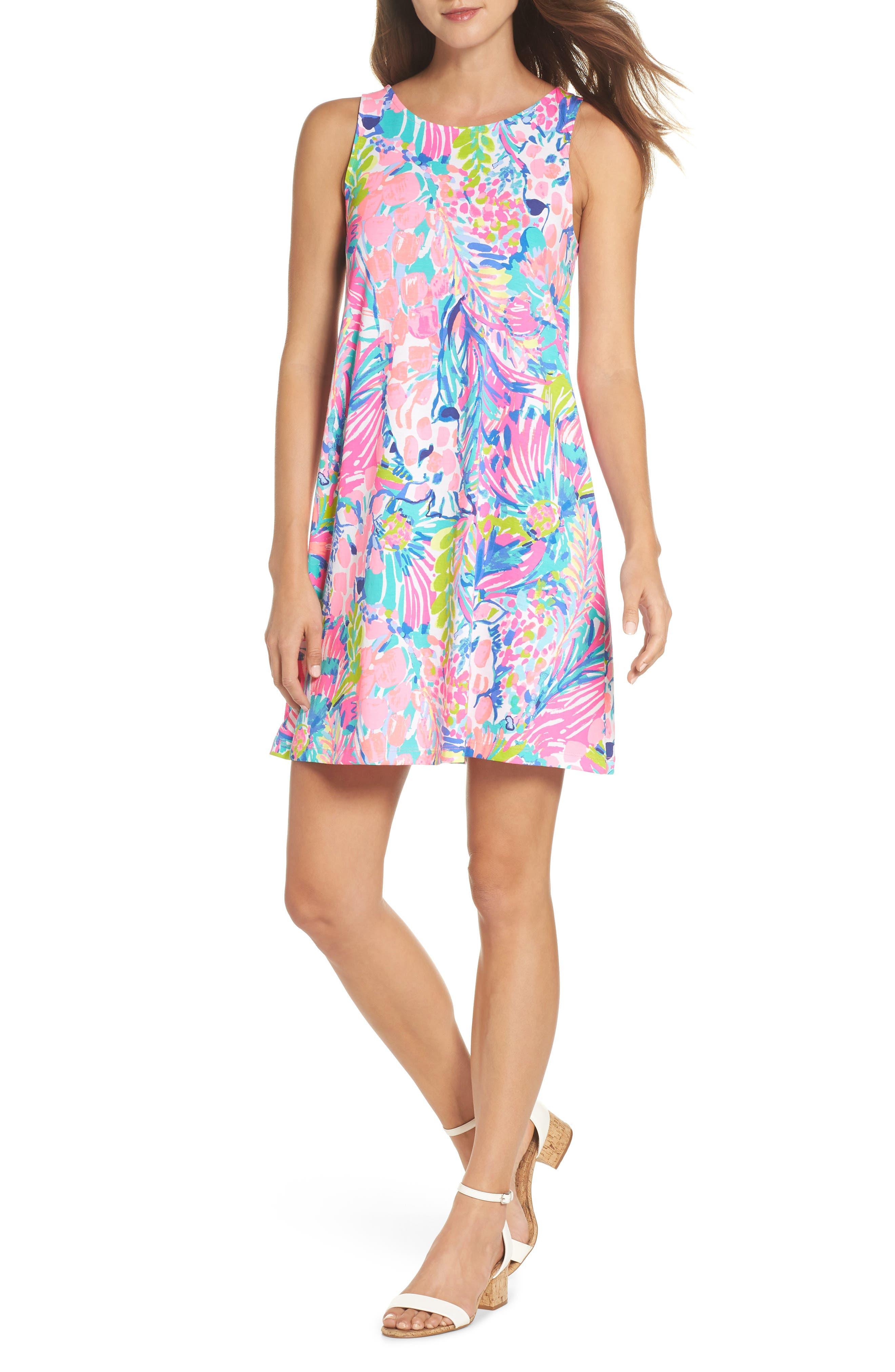 Kristen Trapeze Dress,                             Alternate thumbnail 5, color,