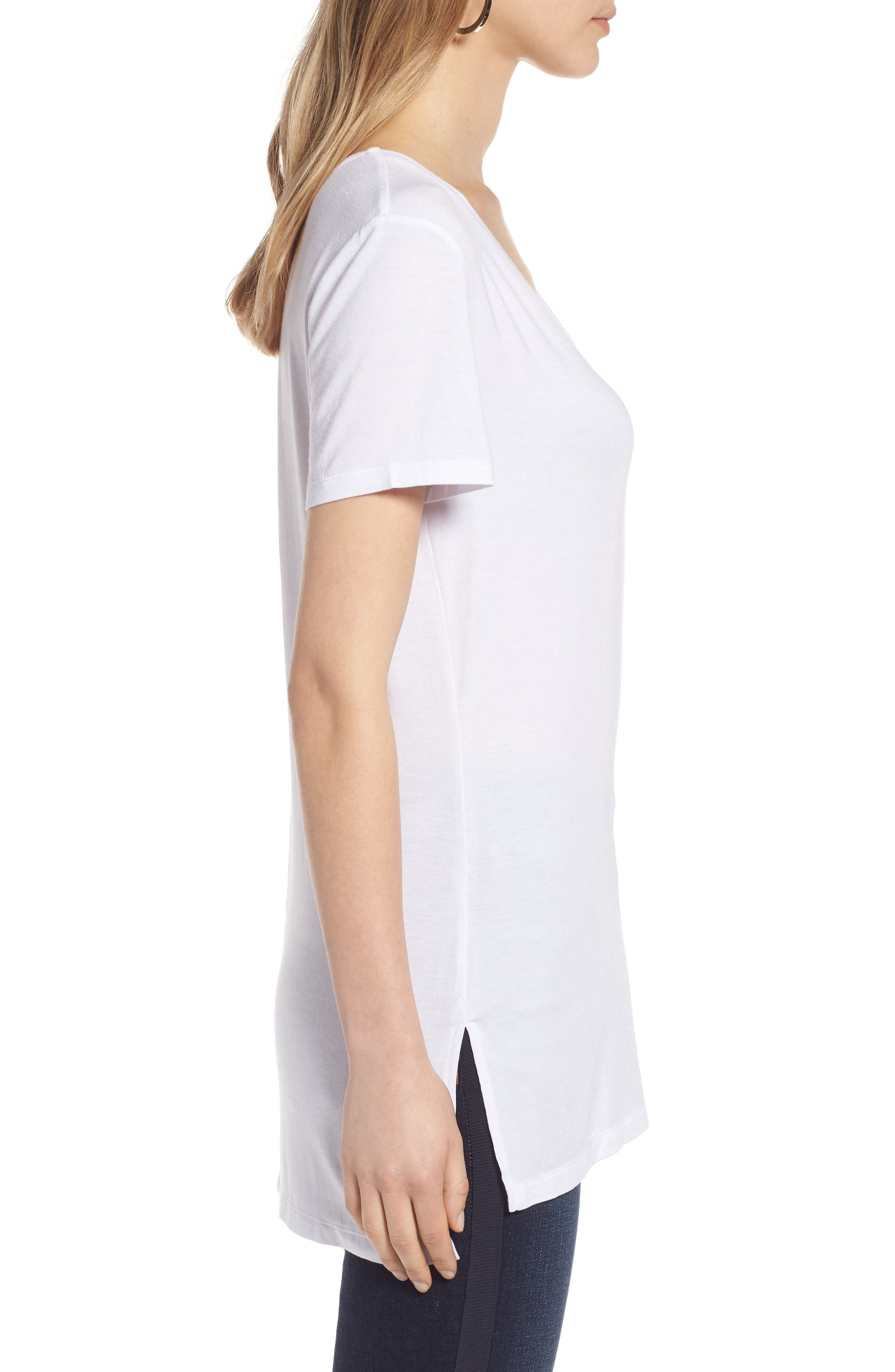 V-Neck Tunic Tee,                             Alternate thumbnail 32, color,