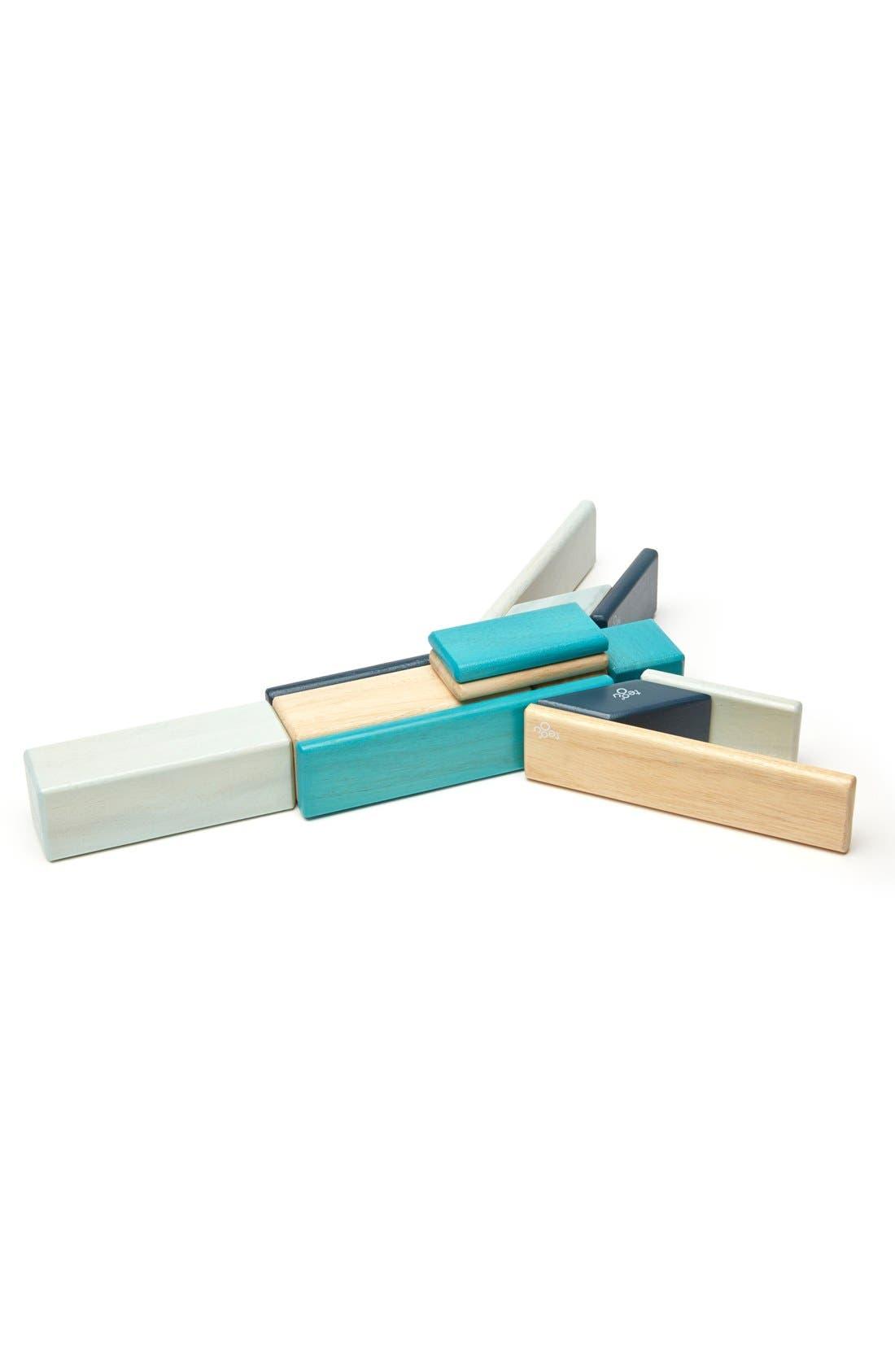 'Classics - Blues' Magnetic Wooden Blocks Play Set,                         Main,                         color, 400