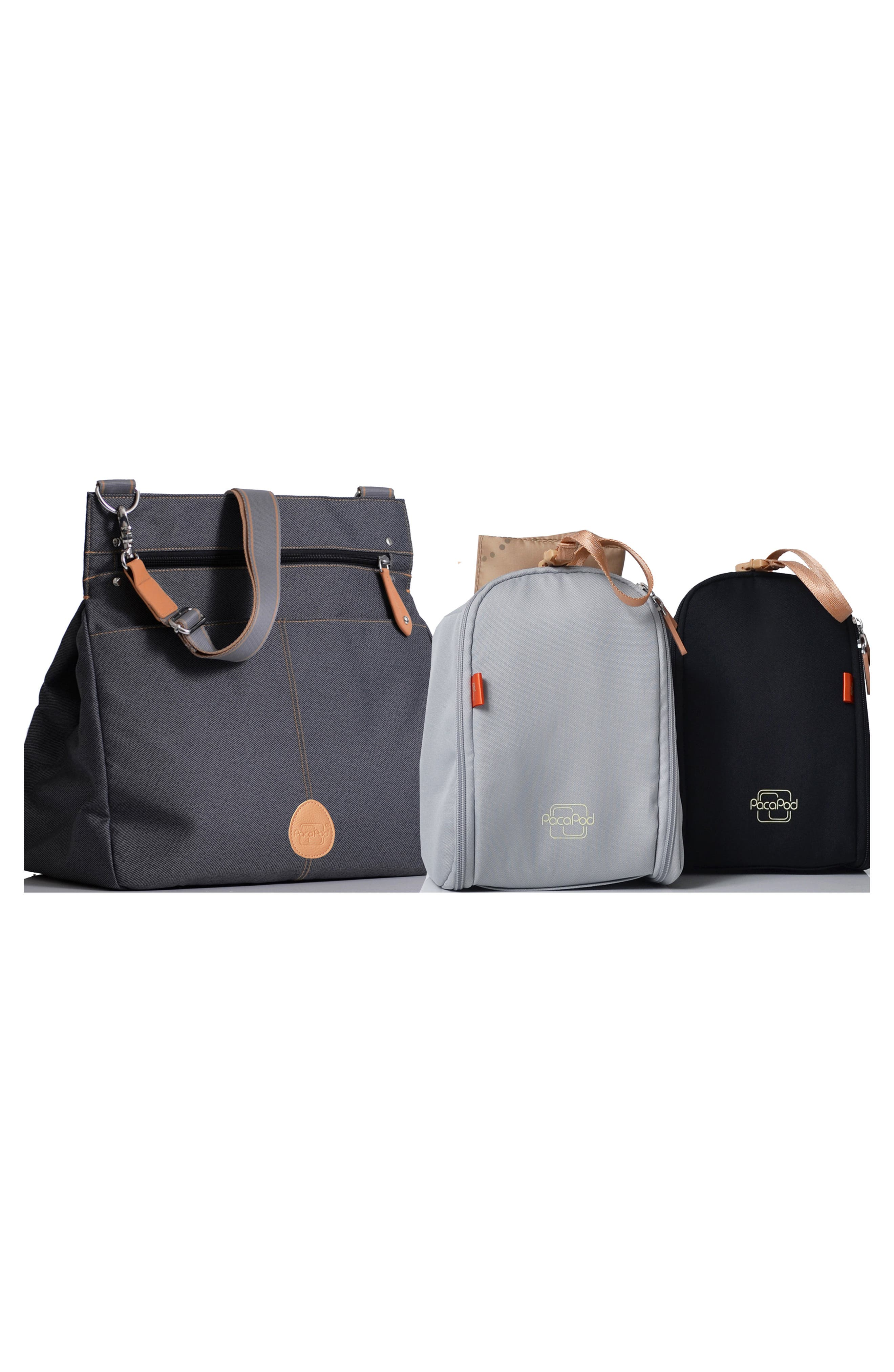 'Oban' Diaper Bag,                             Alternate thumbnail 4, color,                             BLACK CHARCOAL