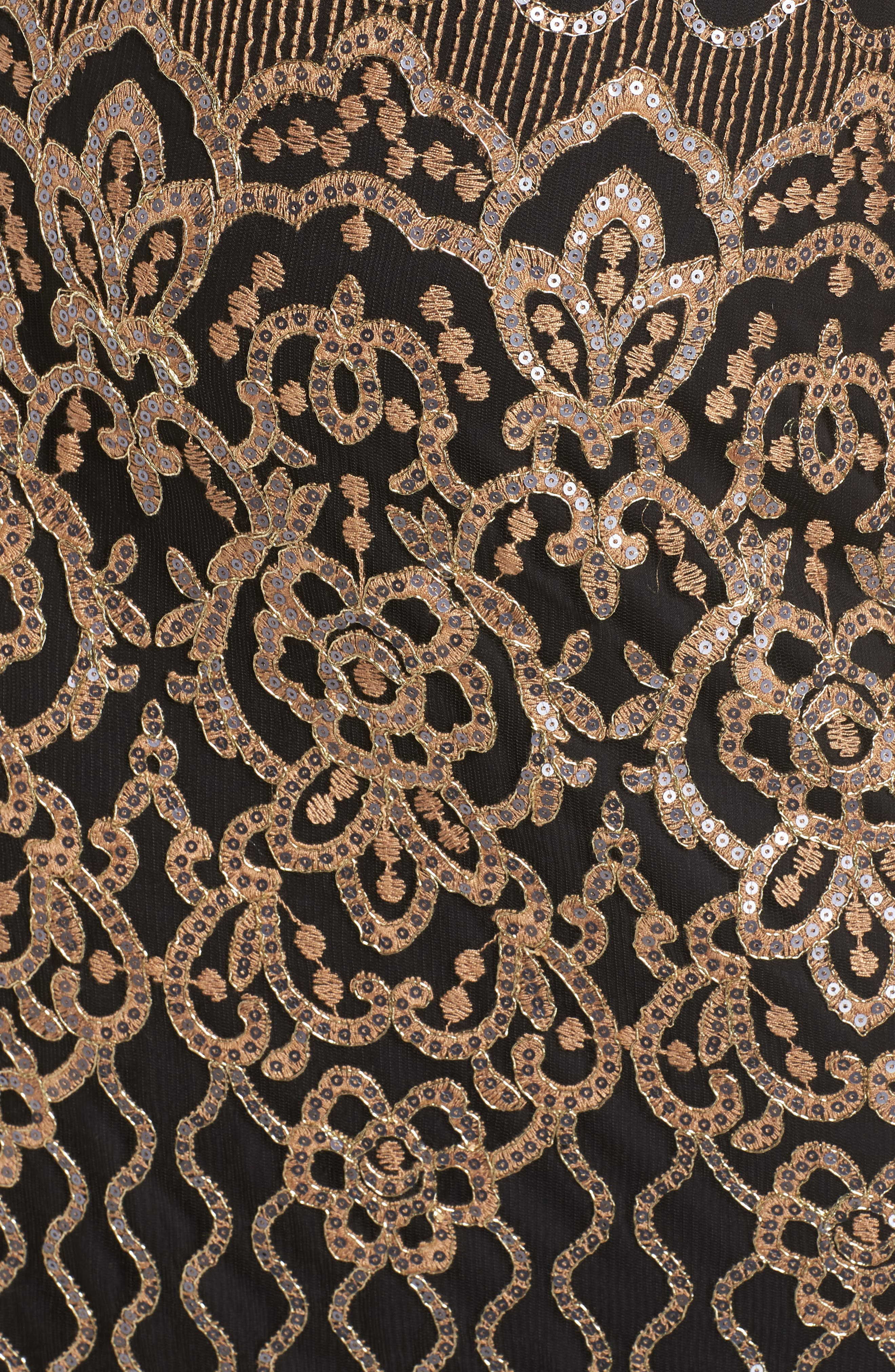Sequin Embellished Dress,                             Alternate thumbnail 12, color,                             COPPER SHADOW/ BLACK