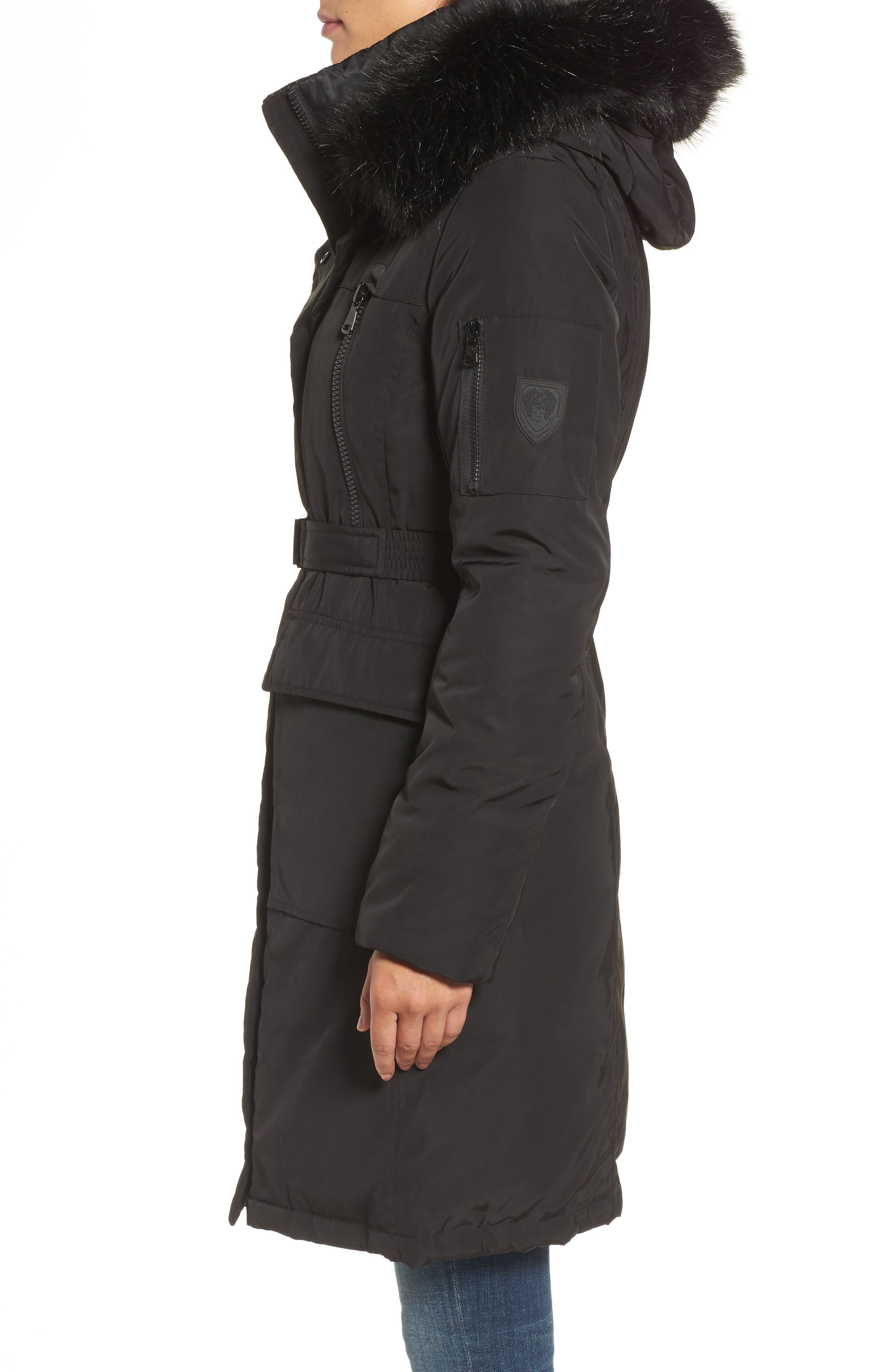 Insulated Puffer Jacket,                             Alternate thumbnail 3, color,                             001