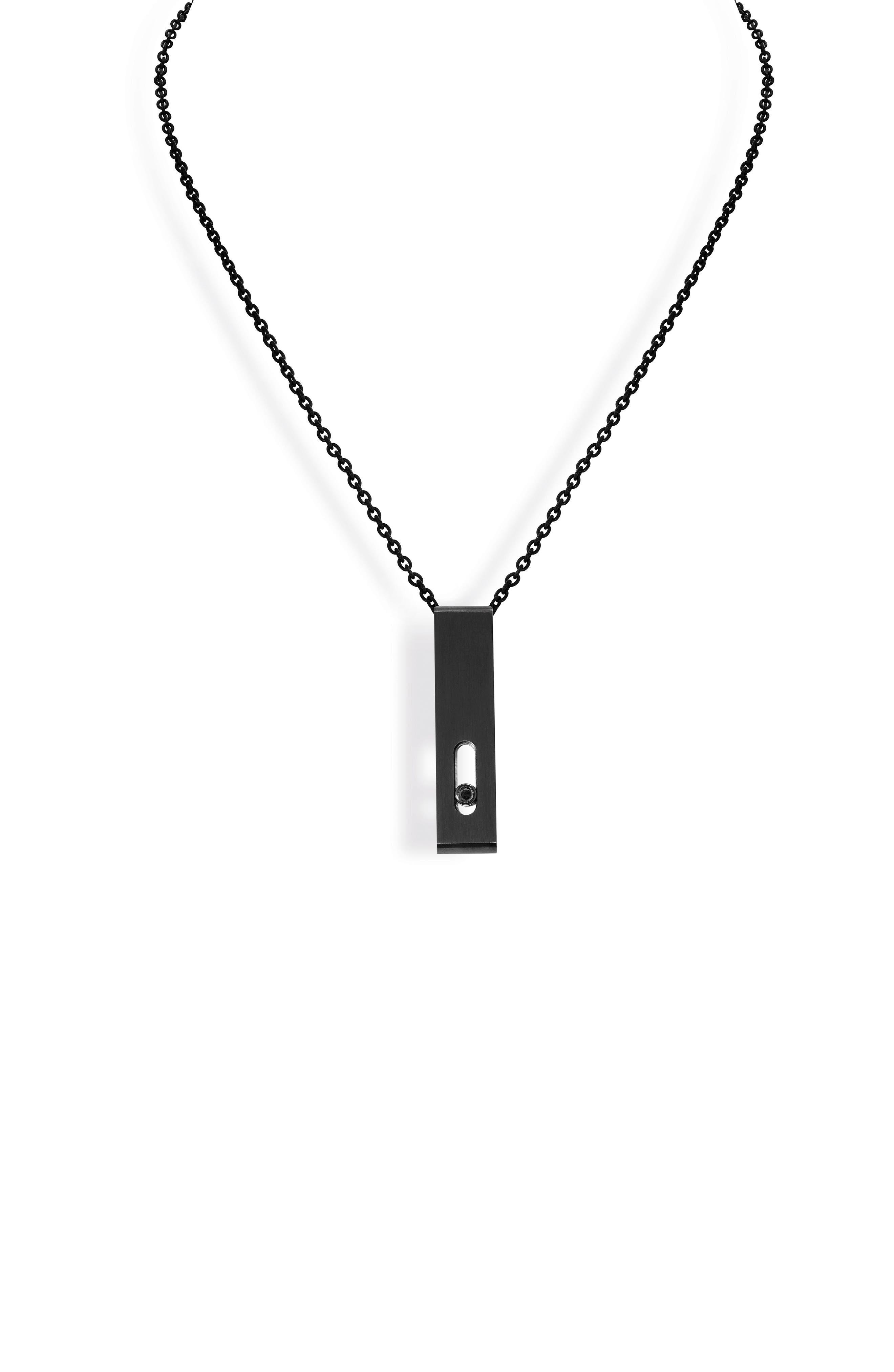 Titanium Move Diamond Pendant Necklace,                             Main thumbnail 1, color,                             TITANIUM