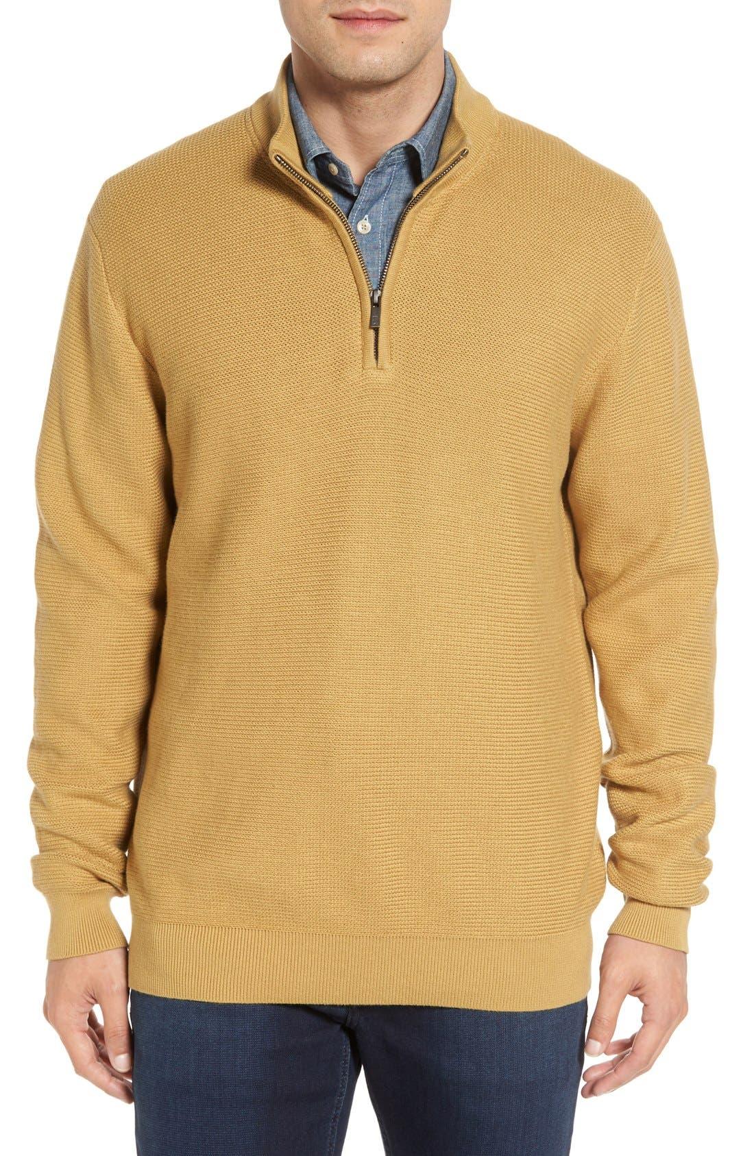 'Benson' Quarter Zip Textured Knit Sweater,                             Main thumbnail 3, color,