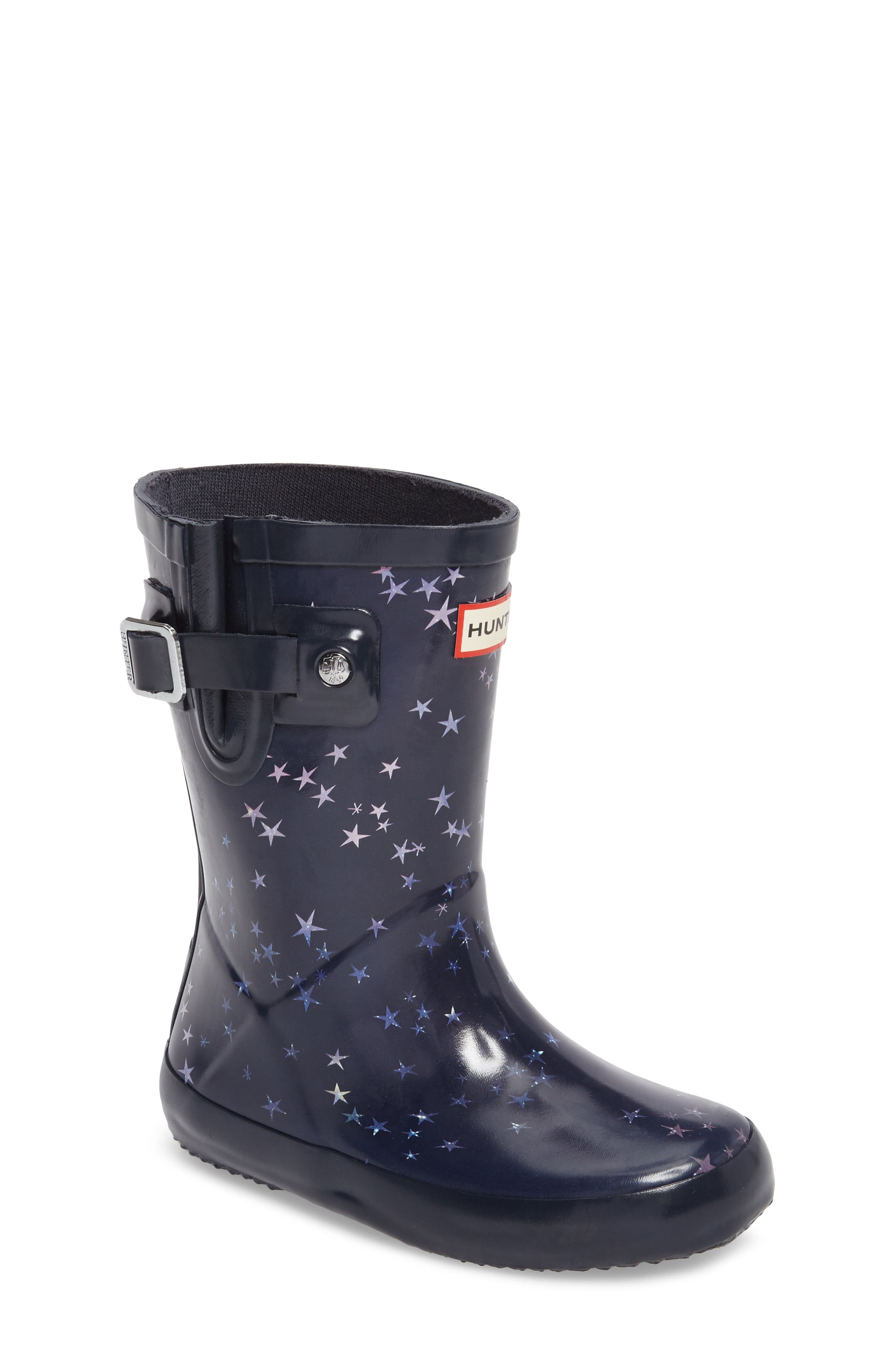 Flat Sole Constellation Waterproof Rain Boot,                             Main thumbnail 1, color,                             483