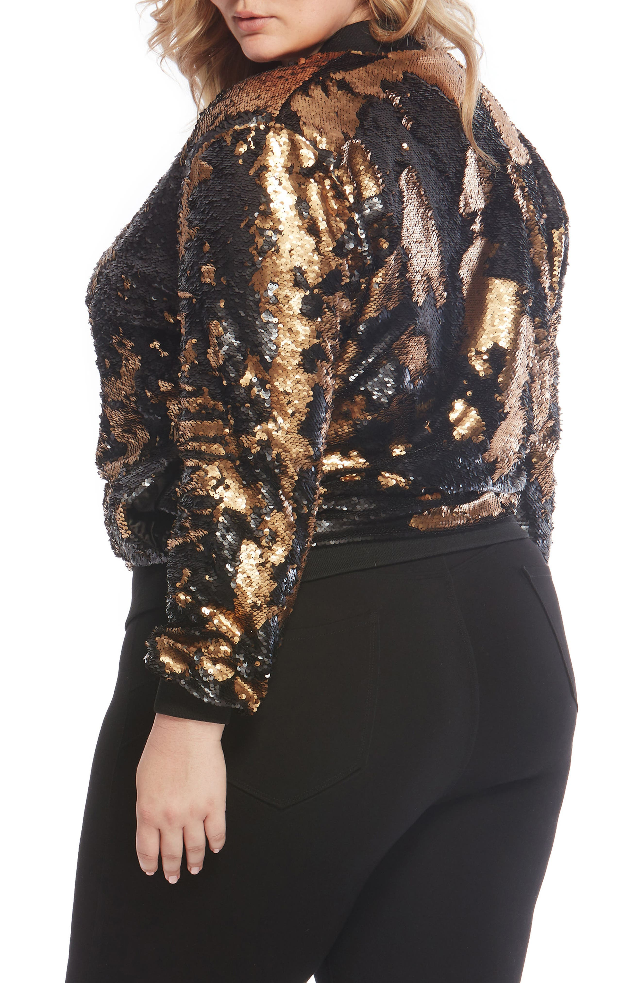 Sequin Bomber Jacket,                             Alternate thumbnail 2, color,                             005