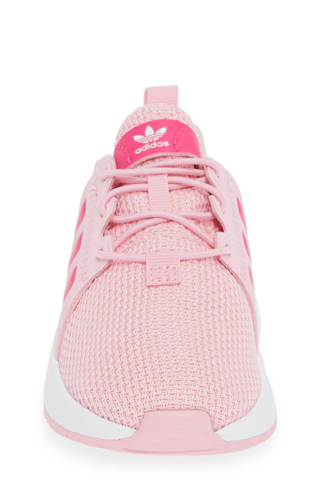 ADIDAS,                             X_PLR Sneaker,                             Alternate thumbnail 4, color,                             TRUE PINK/ SHOCK PINK/ WHITE