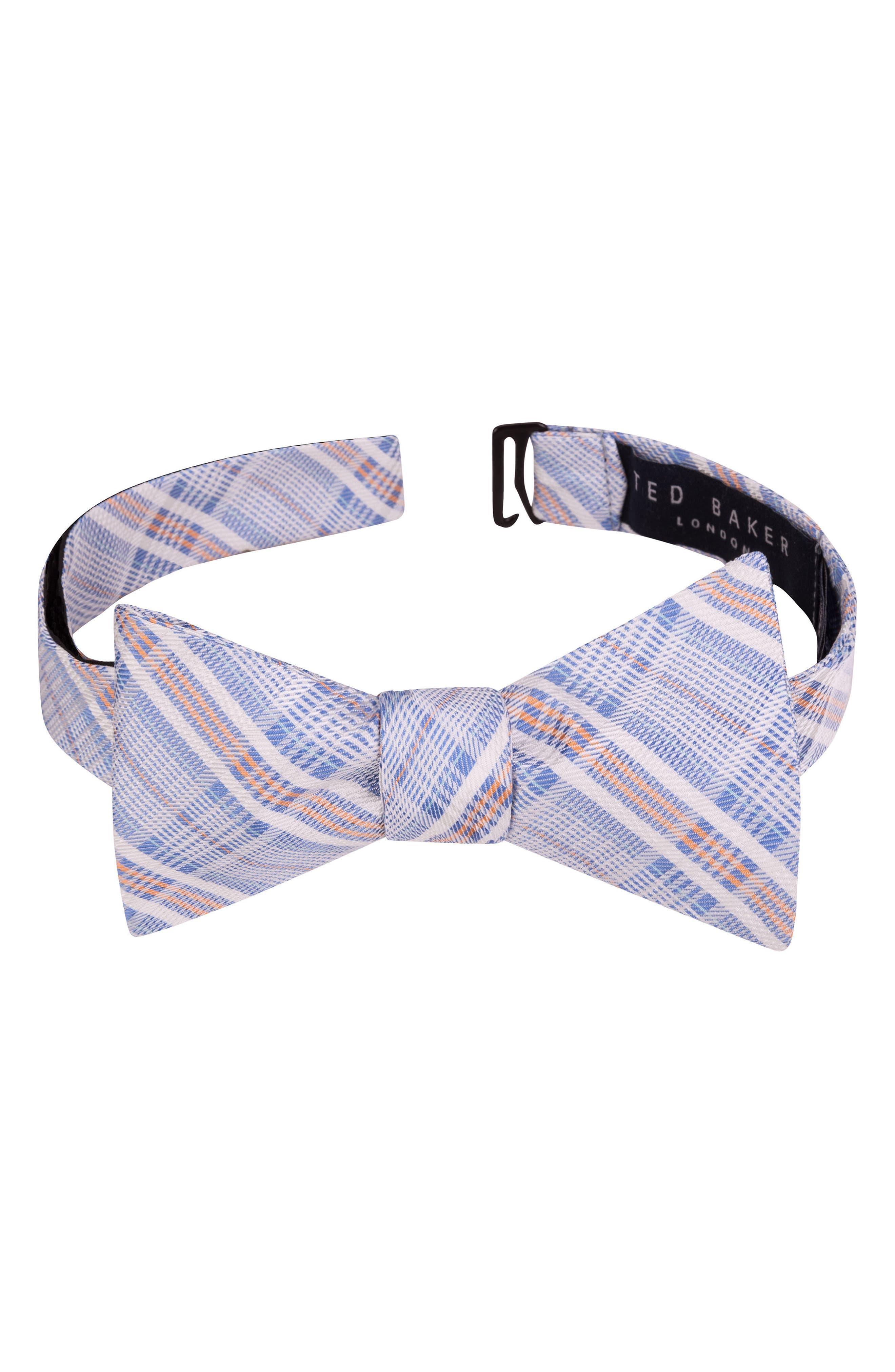 Subtle Check Bow Tie,                         Main,                         color, 400