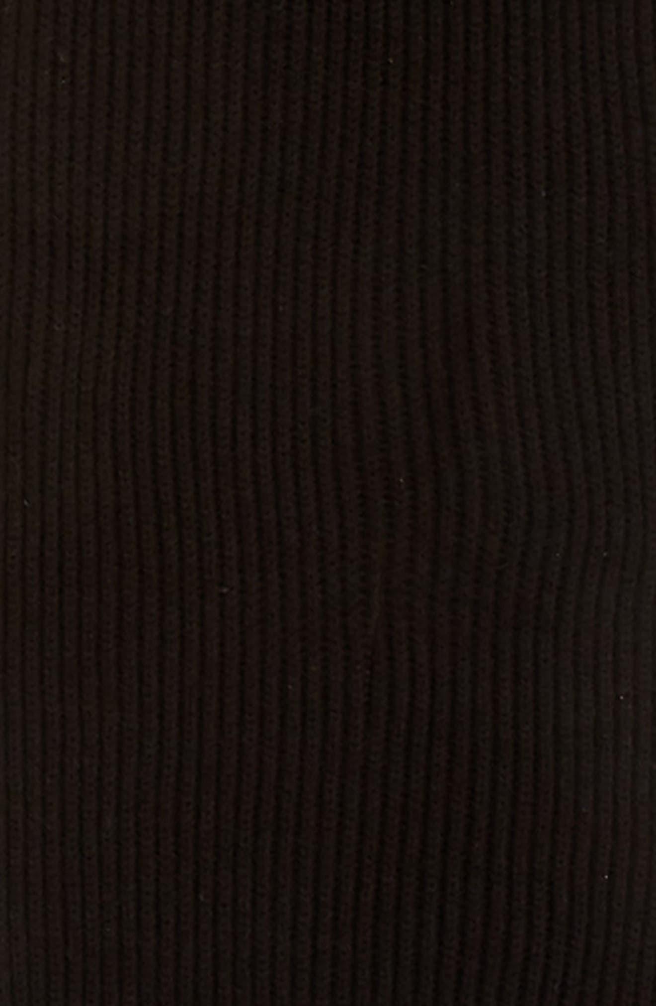 solid bow muffler,                             Alternate thumbnail 4, color,                             BLACK