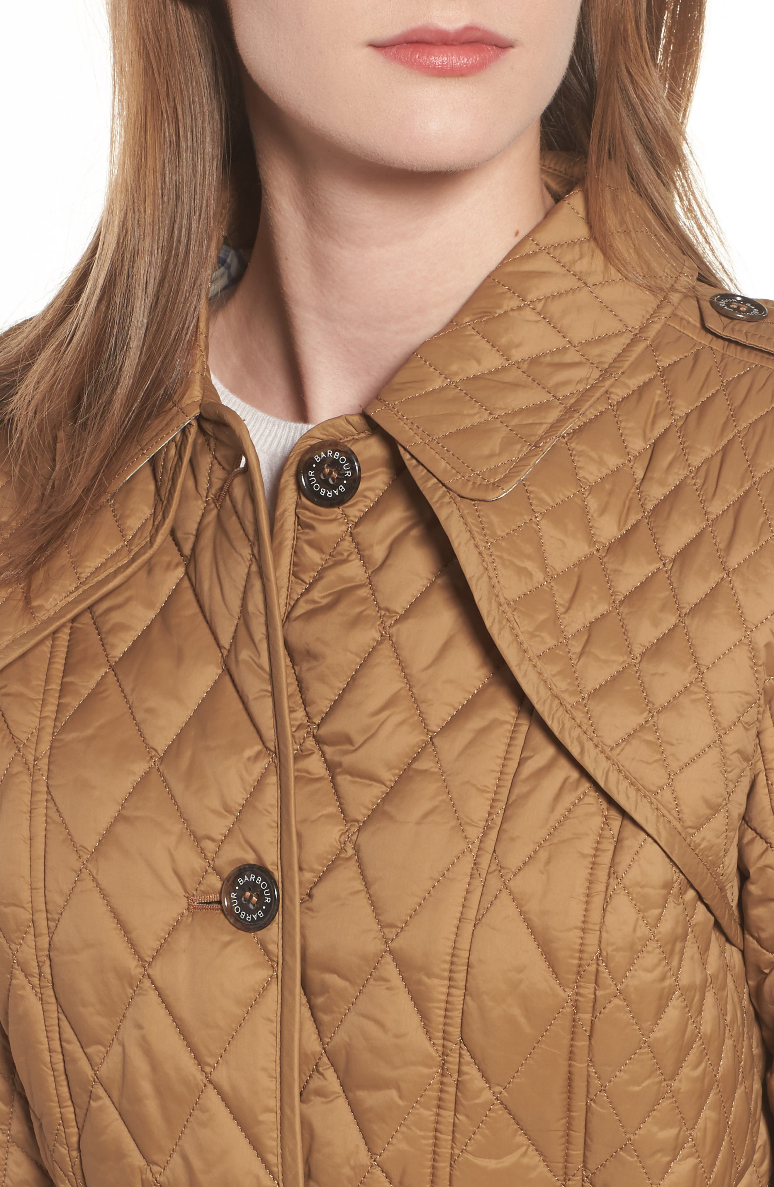 Hailes Quilted Trench Jacket,                             Alternate thumbnail 4, color,                             260