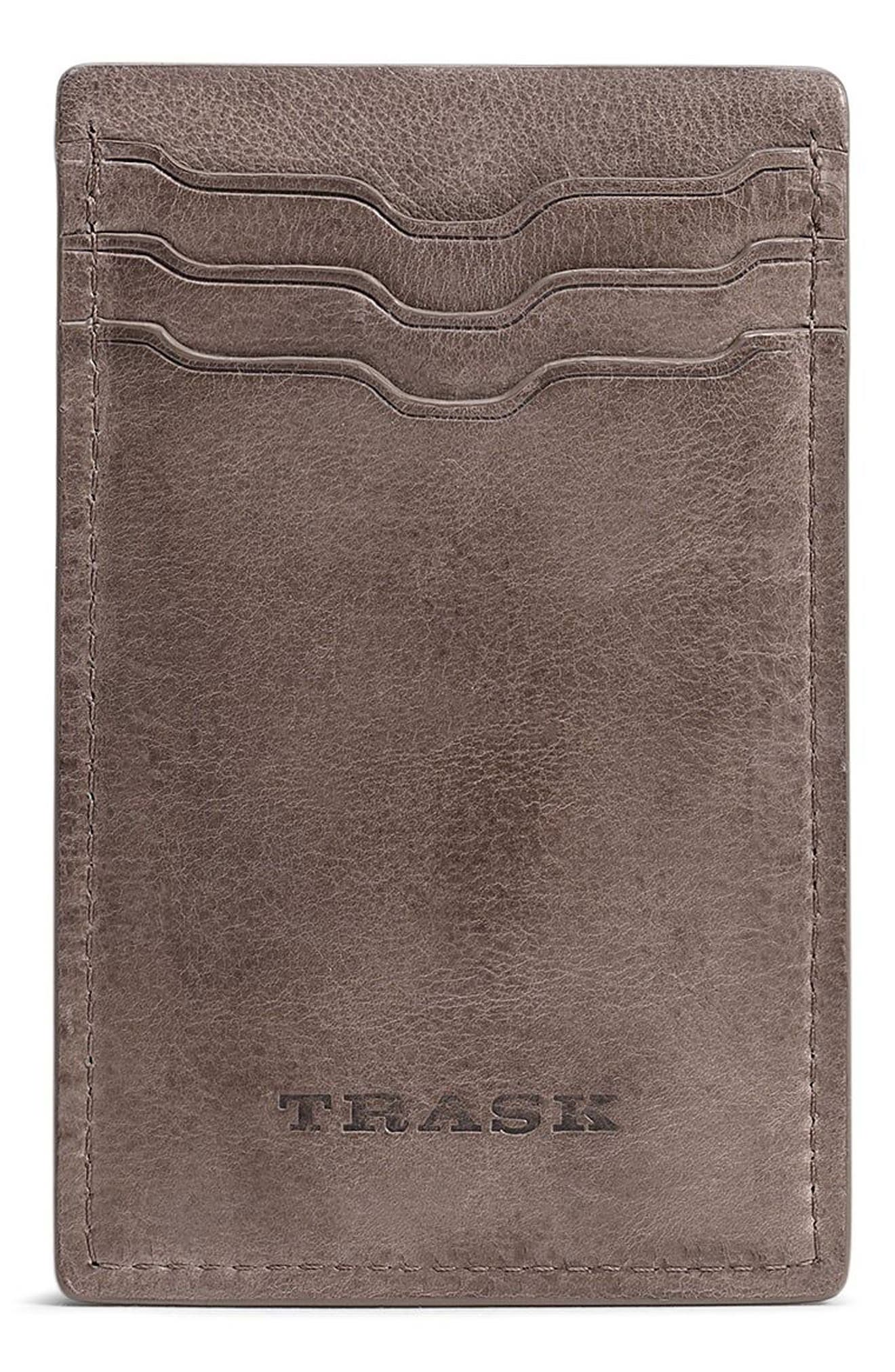 Canyon Money Clip Card Case,                         Main,                         color, GREY