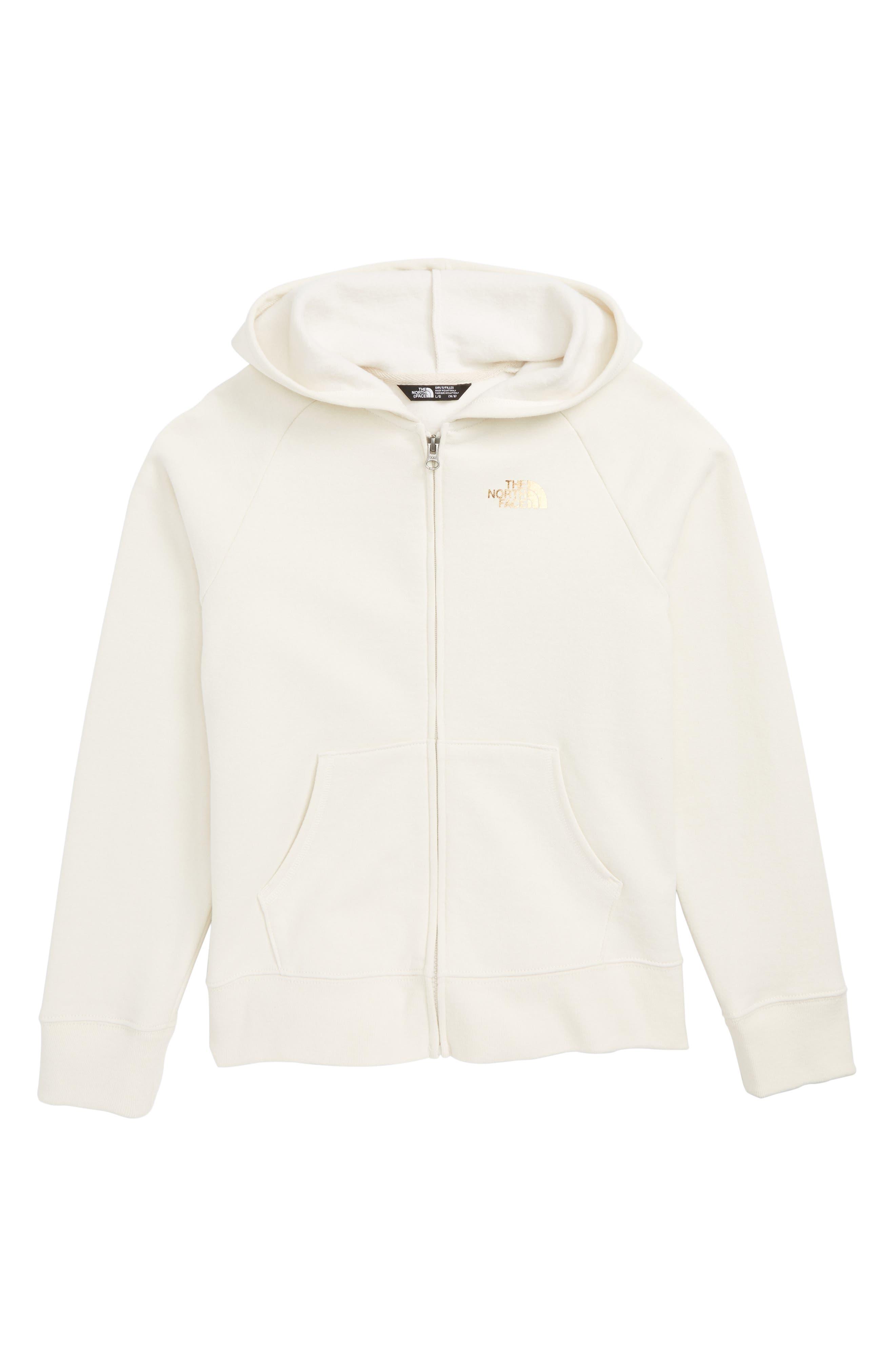 Logowear Full Zip Hoodie,                         Main,                         color, VINTAGE WHITE