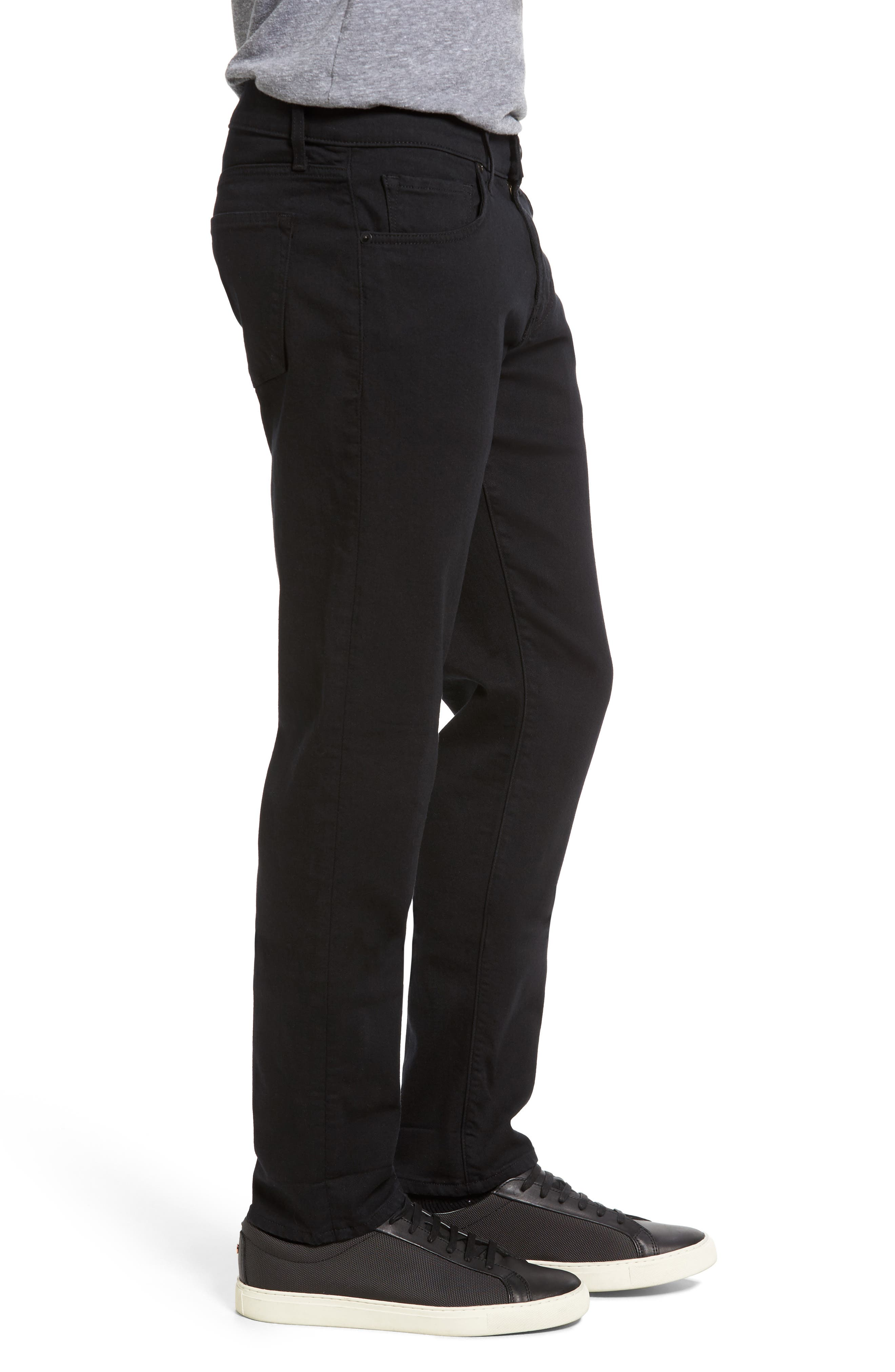 Tyler Slim Fit Jeans,                             Alternate thumbnail 3, color,                             SERIOUSLY BLACK