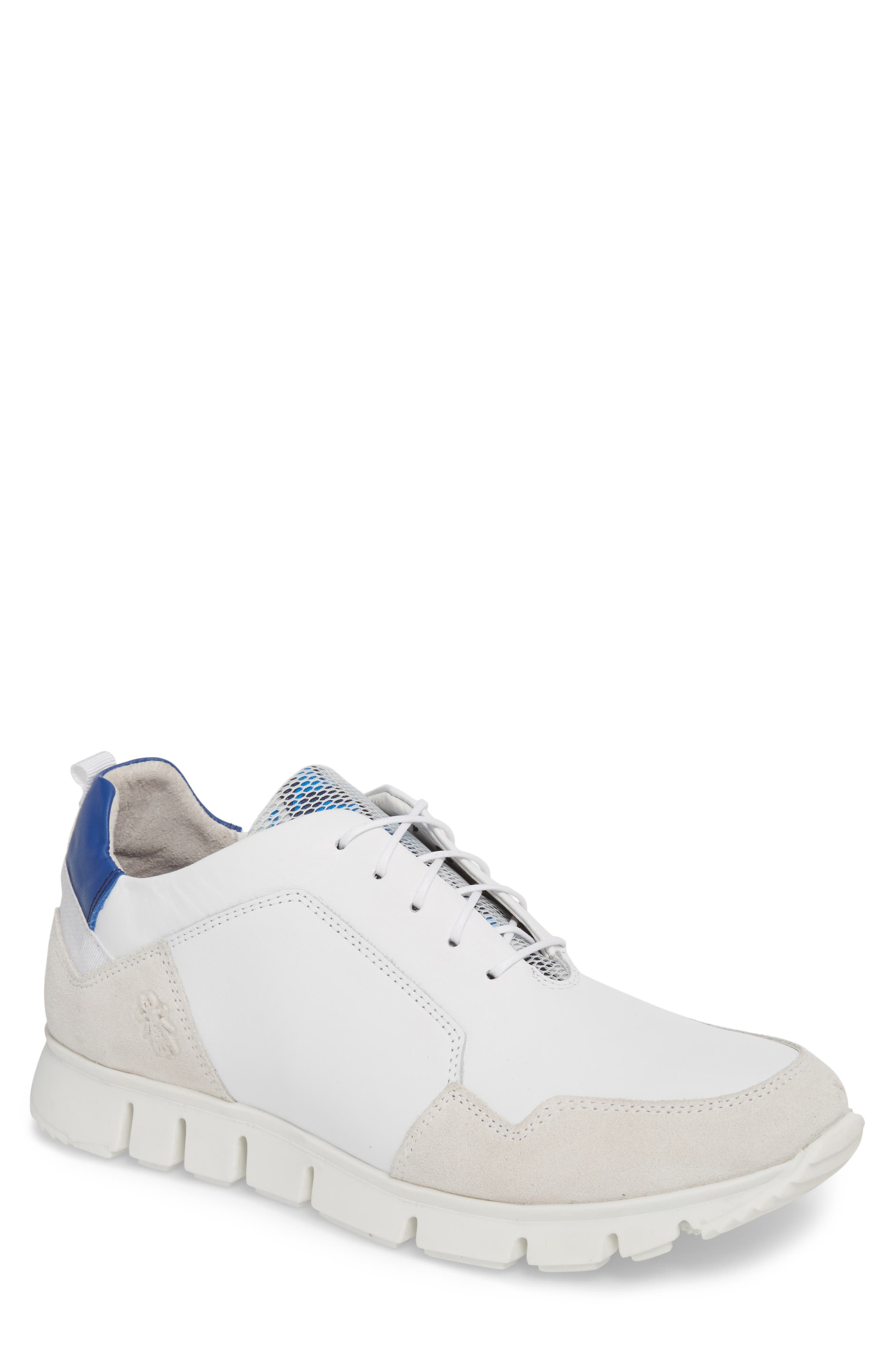 Sild Low Top Sneaker,                         Main,                         color, WHITE SUEDE/ LEATHER