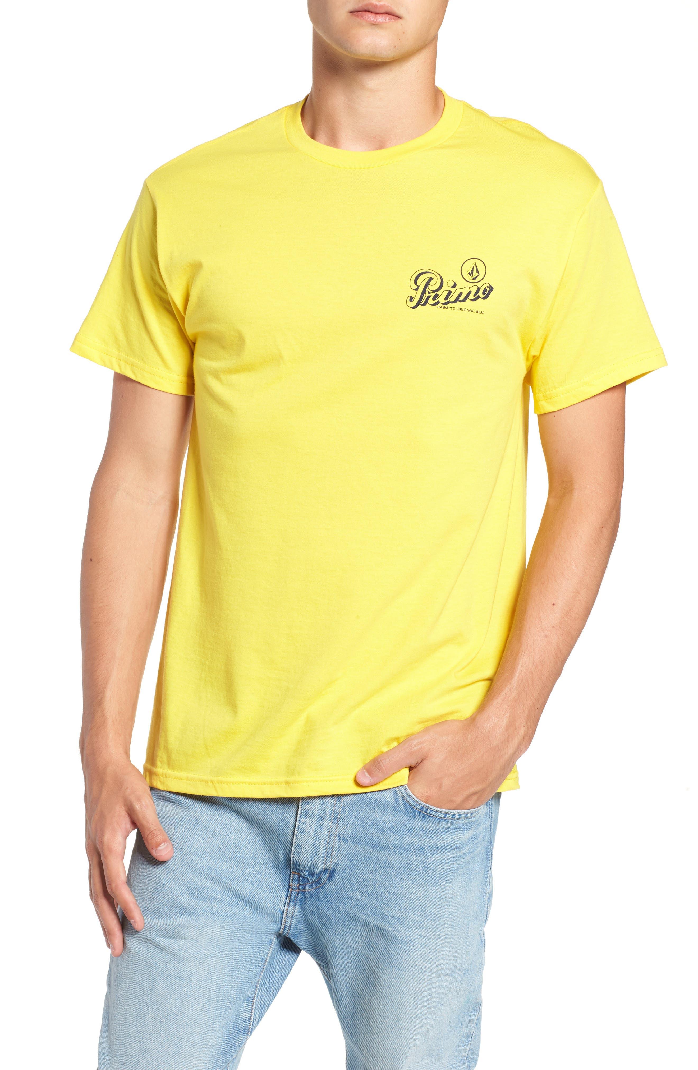 Primo Island T-Shirt,                             Main thumbnail 1, color,                             CYBER YELLOW