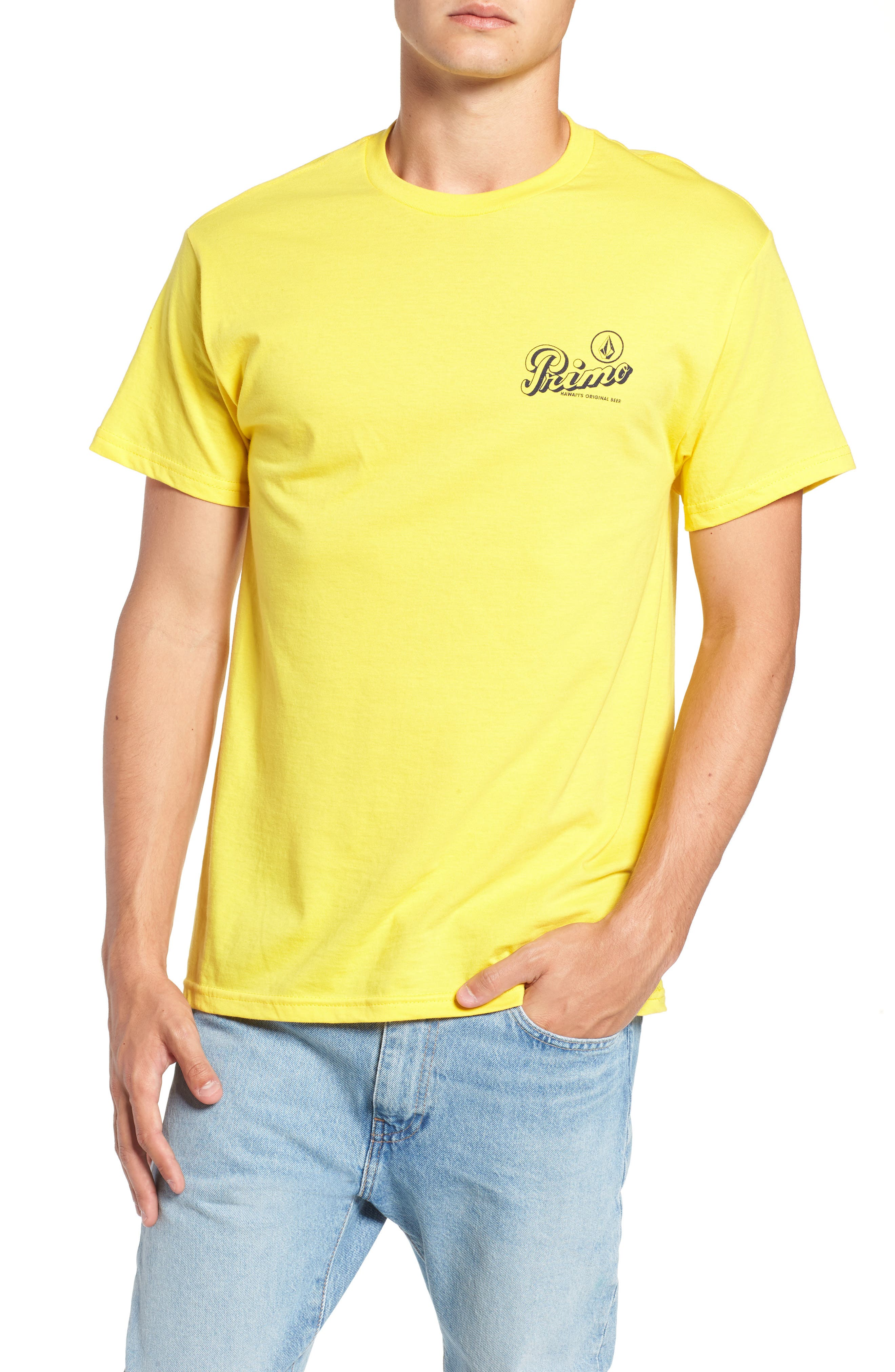 Primo Island T-Shirt,                         Main,                         color, CYBER YELLOW