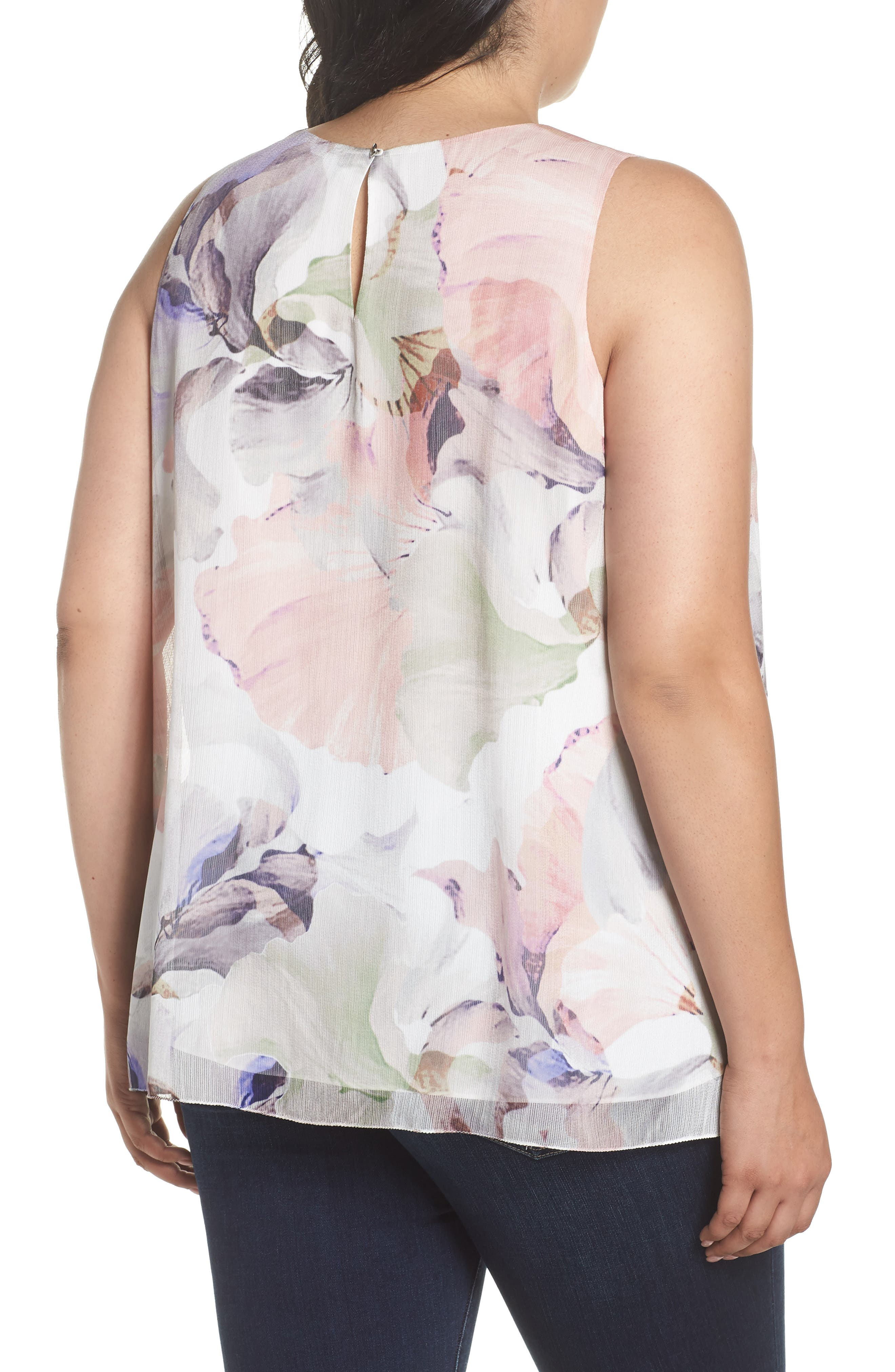 VINCE CAMUTO,                             Diffused Blooms Blouse,                             Alternate thumbnail 2, color,                             903