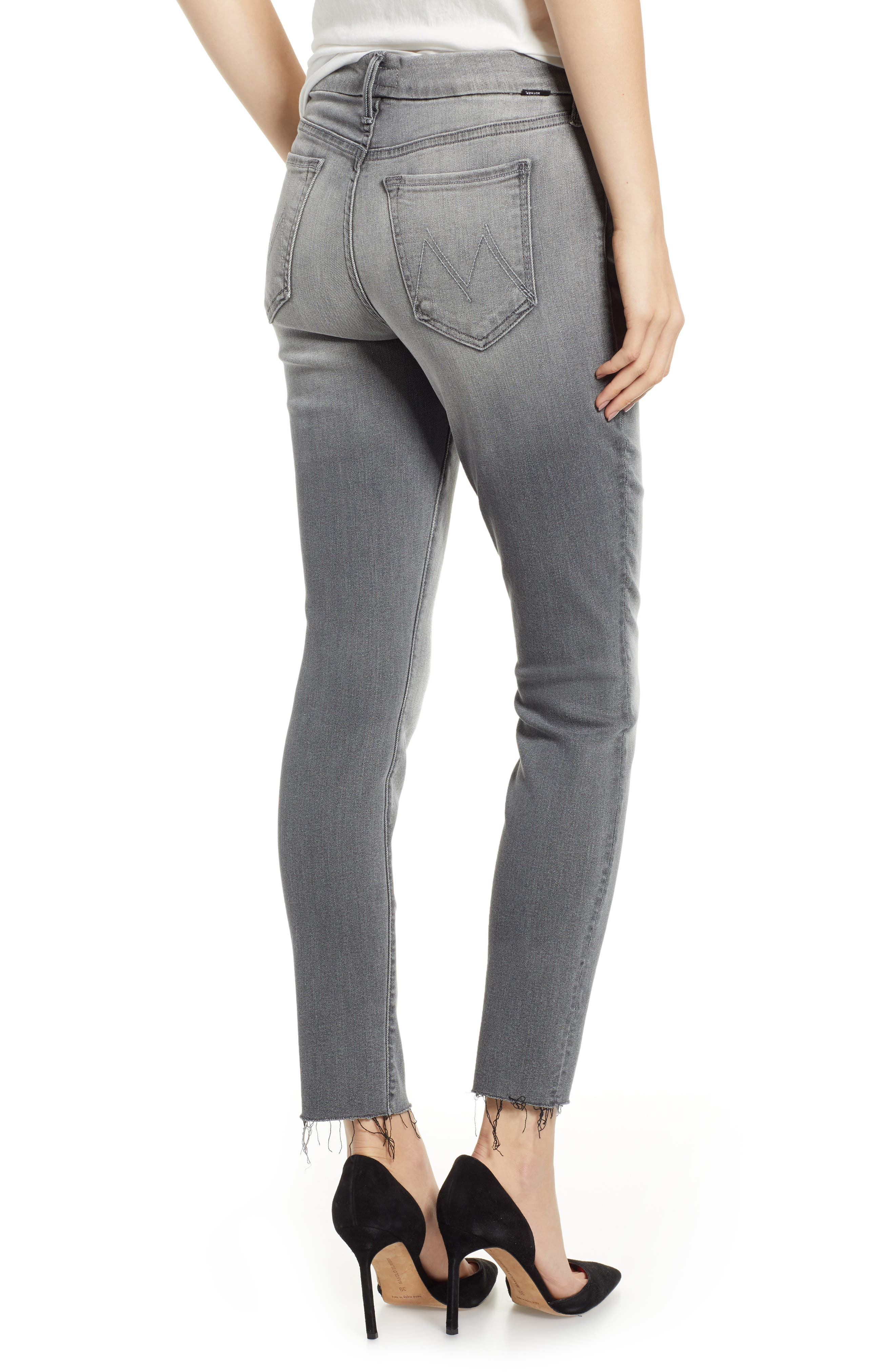 The Looker Frayed Ankle Jeans,                             Alternate thumbnail 2, color,                             SUPER MOON