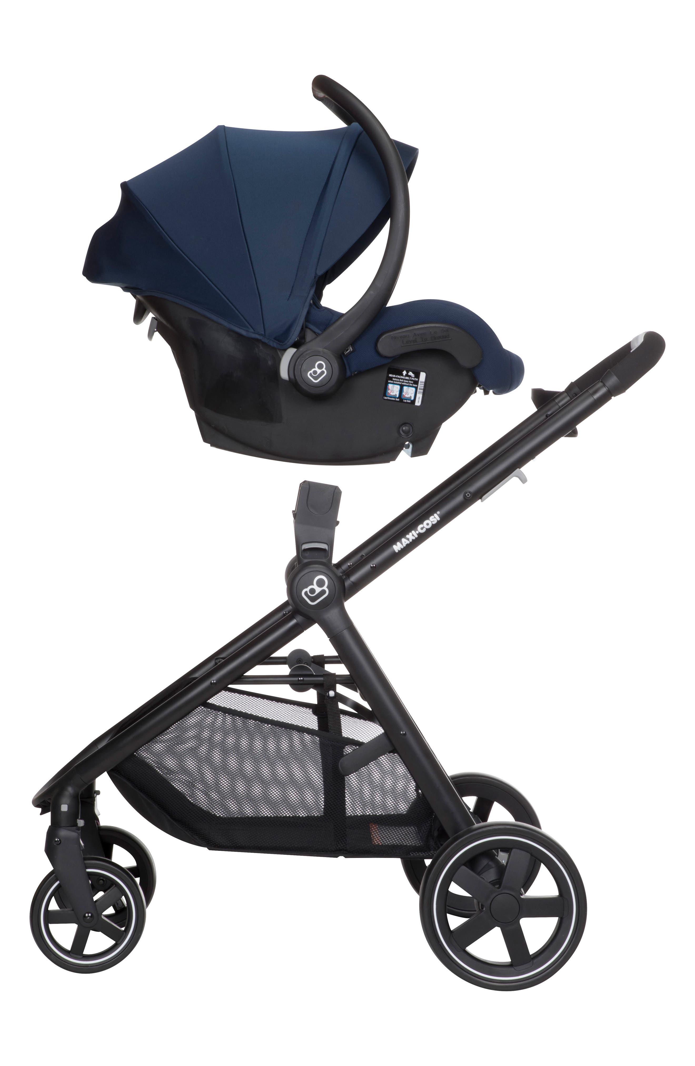 5-1 Mico 30 Infant Car Seat & Zelia Stroller Modular Travel System,                             Alternate thumbnail 13, color,                             NIGHT BLACK