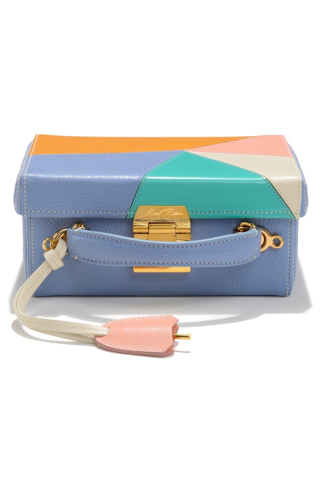 MARK CROSS,                             'Small Grace - Kaleidoscope' Leather Box Bag,                             Alternate thumbnail 3, color,                             400