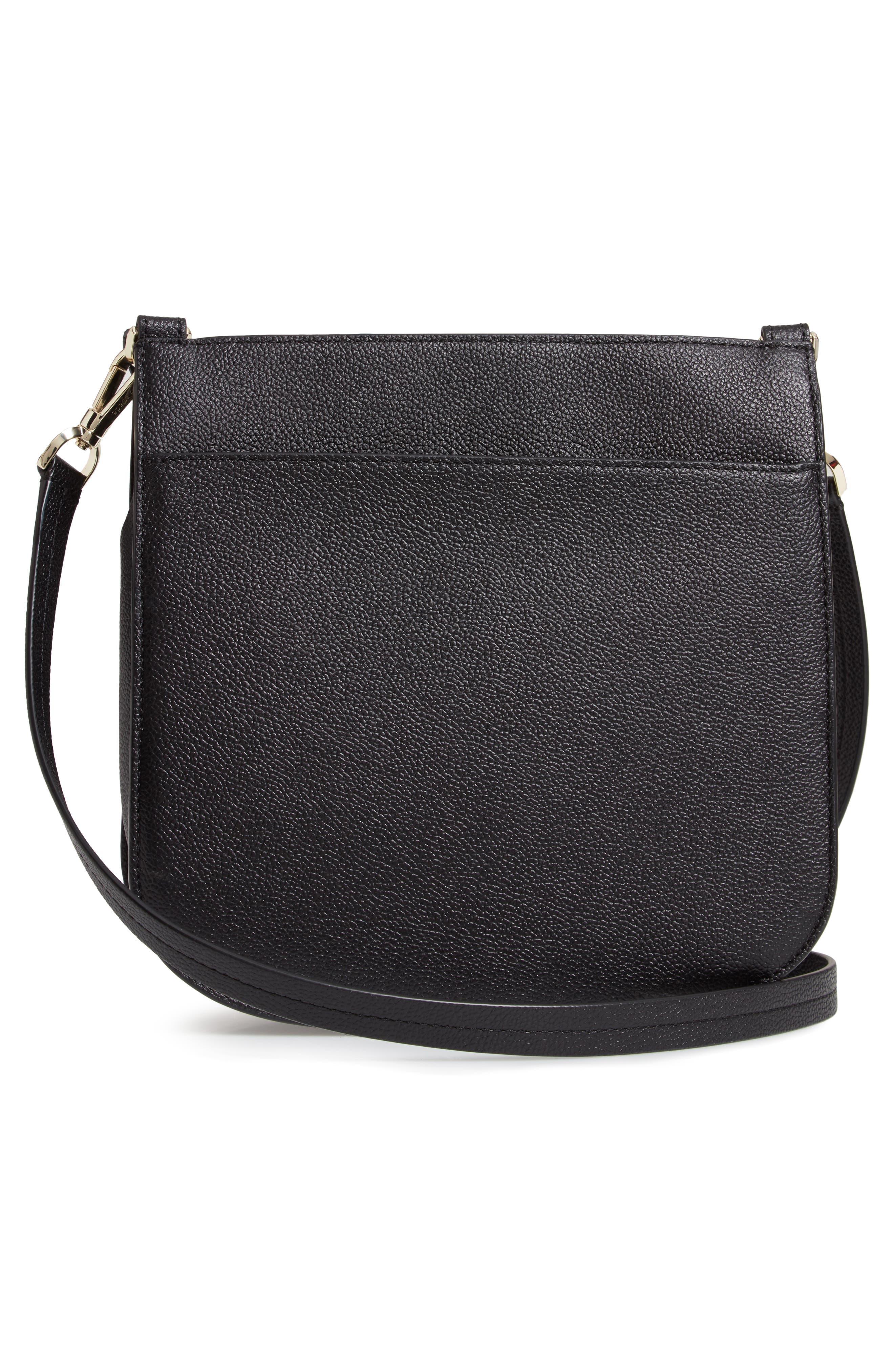 KATE SPADE NEW YORK,                             margaux large crossbody bag,                             Alternate thumbnail 3, color,                             BLACK