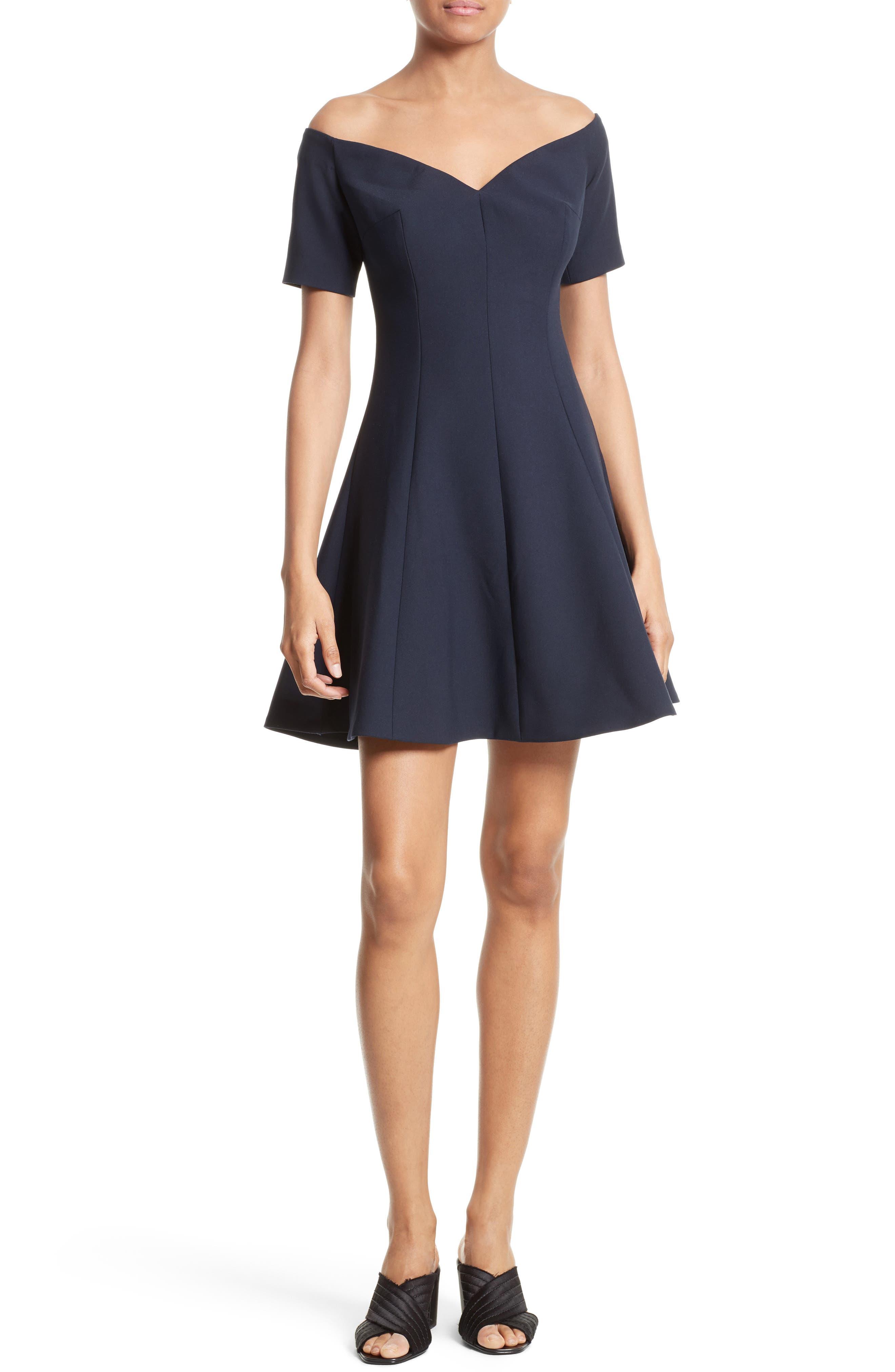 Kenna Fit & Flare Dress,                             Main thumbnail 1, color,                             410