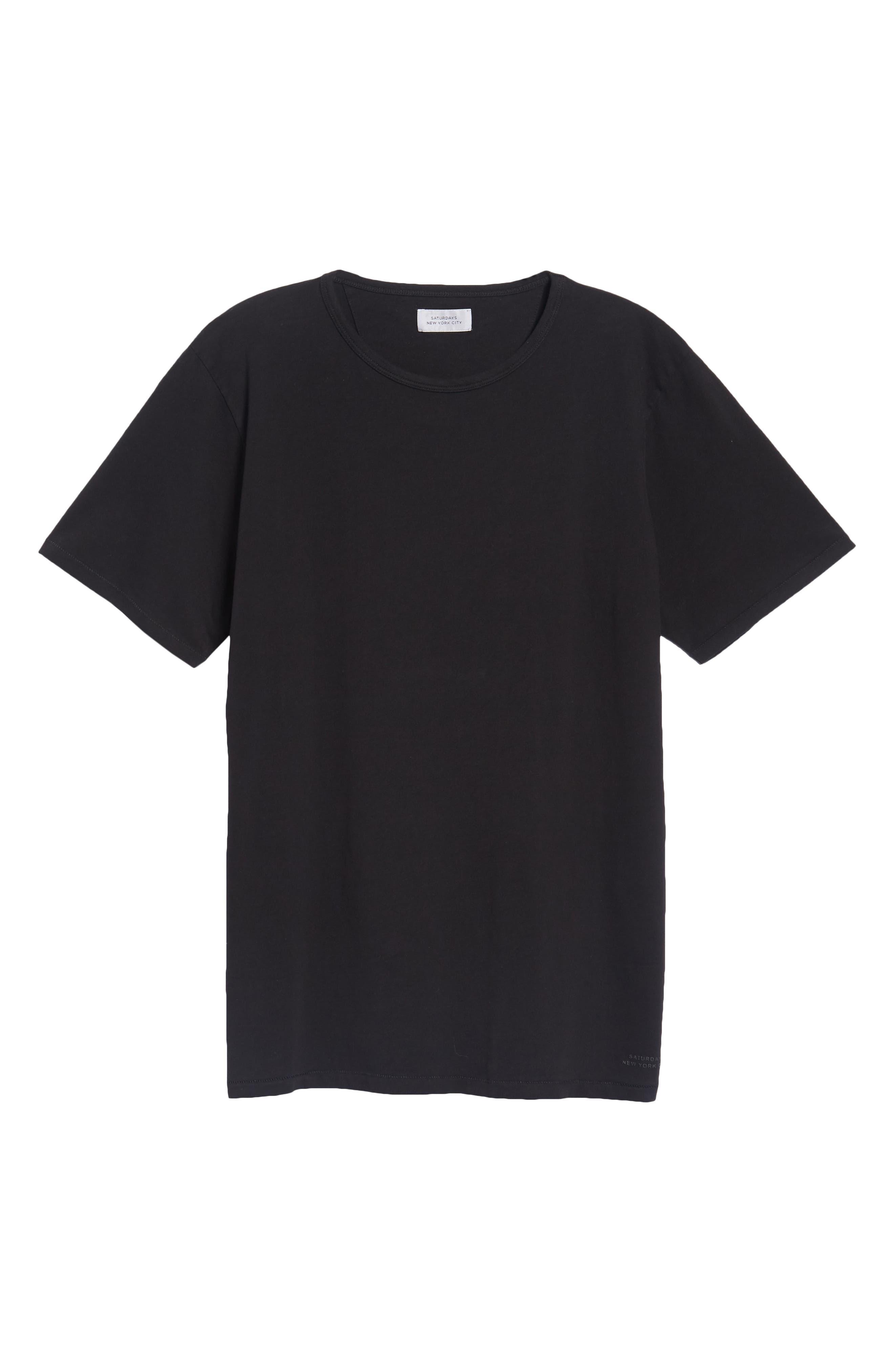 Brandon Pima T-Shirt,                             Alternate thumbnail 6, color,                             BLACK