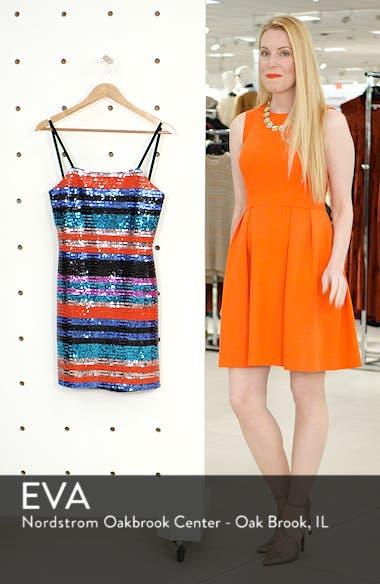 Manfi Lace-Up Back Sequin Stripe Minidress, sales video thumbnail