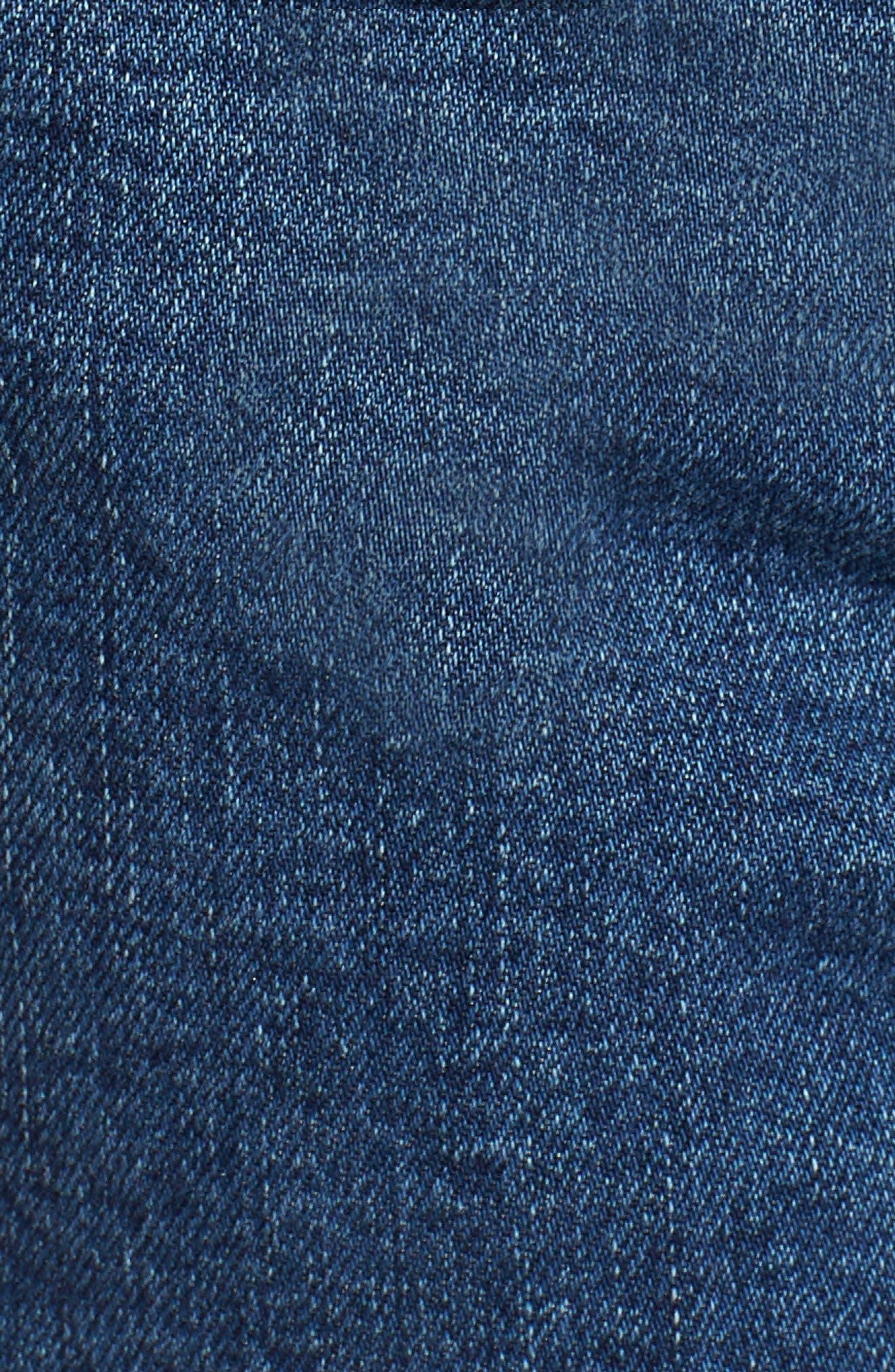 High Waist Cutoff Denim Shorts,                             Alternate thumbnail 6, color,                             400