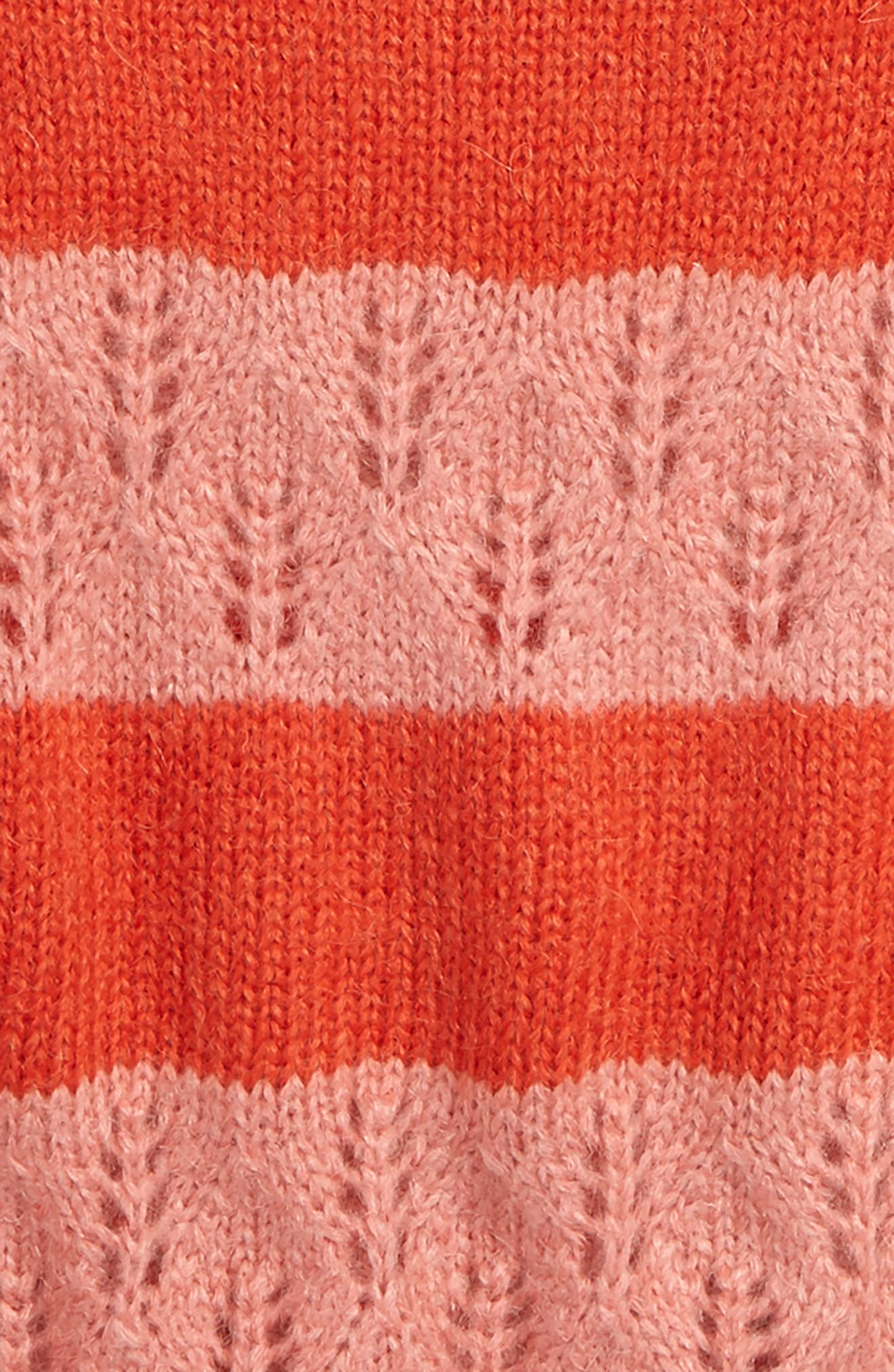 Stripe Knit Sweater,                             Alternate thumbnail 2, color,                             POPPY RED/ FORMICA PINK