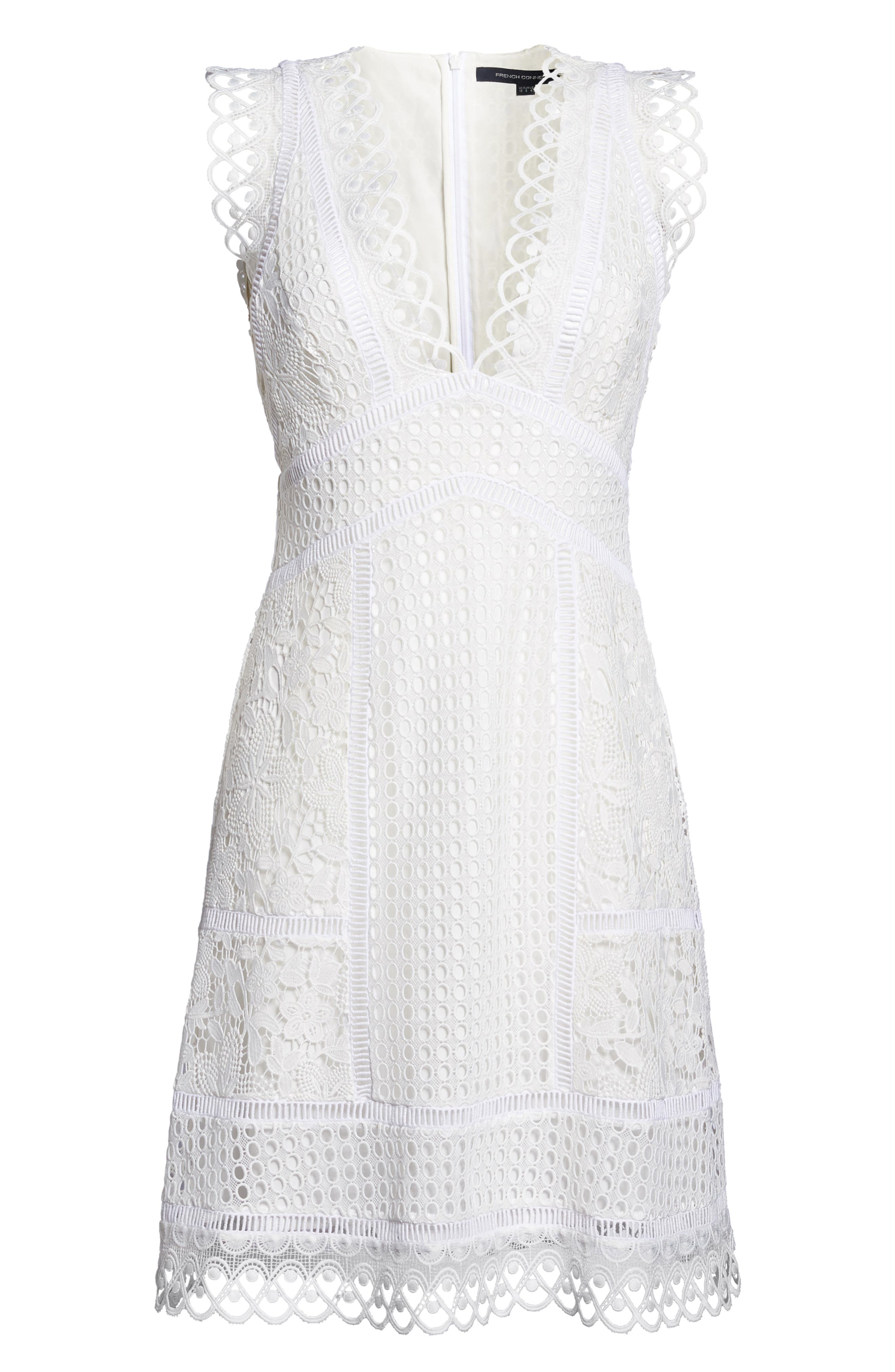Zahra Fit & Flare Dress,                             Alternate thumbnail 6, color,                             101
