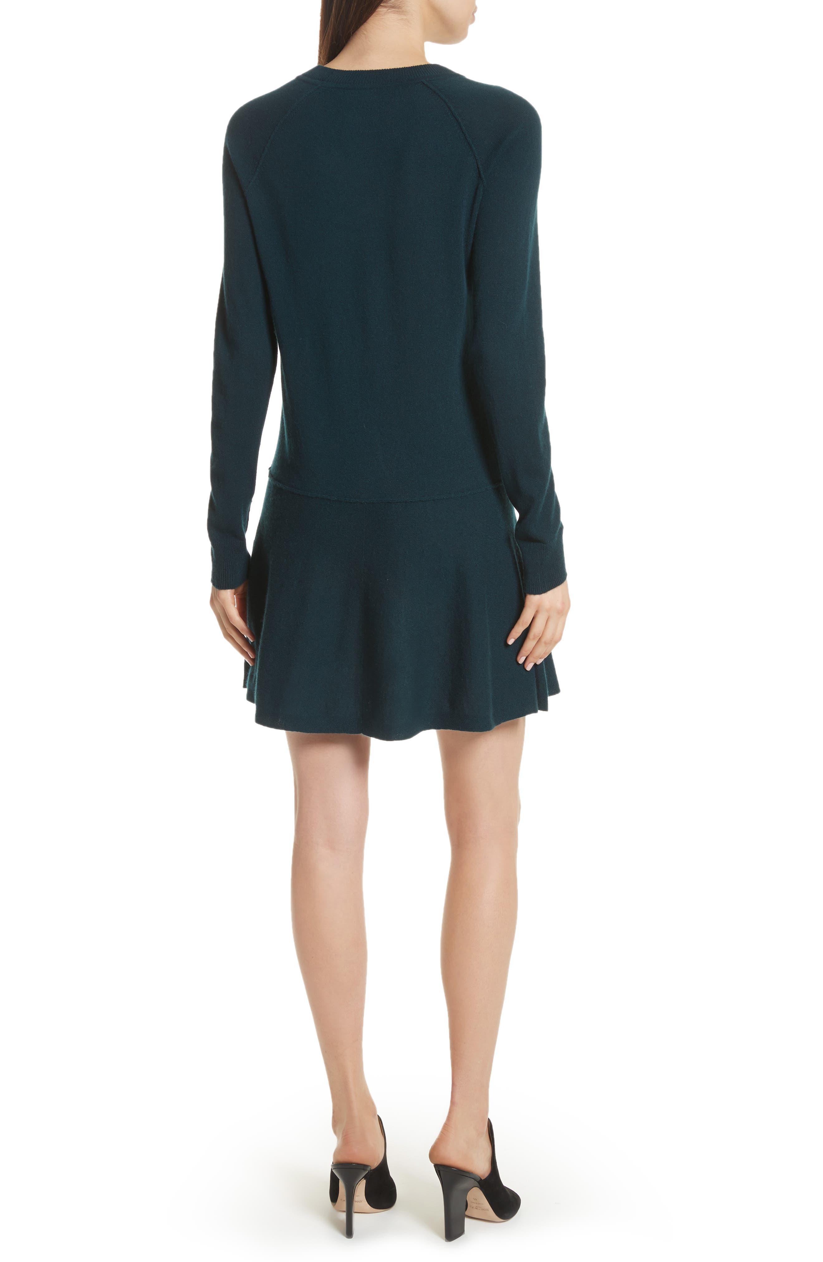 Cashmere Drop Waist Sweater Dress,                             Alternate thumbnail 4, color,