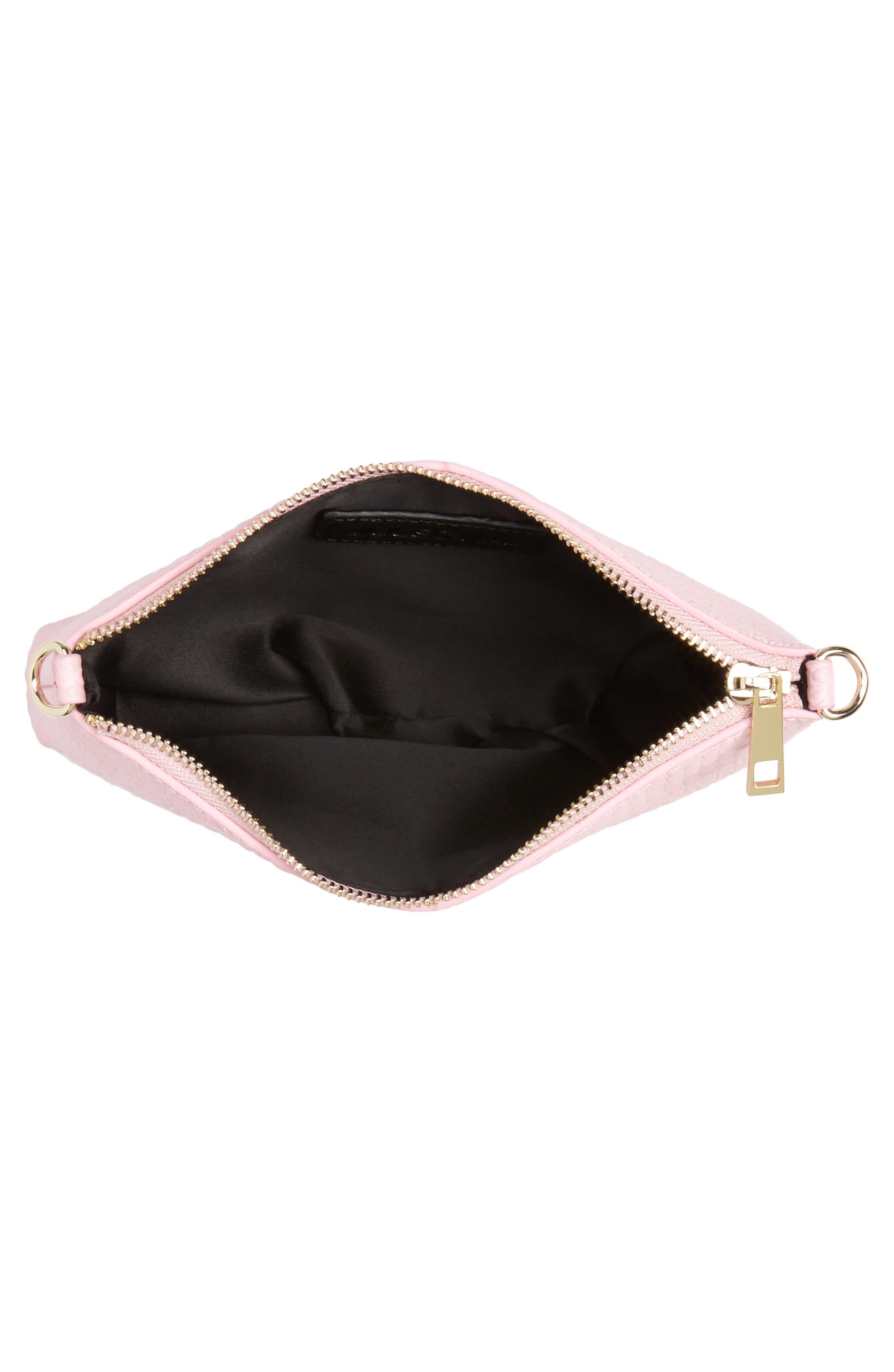 Lola Textured Faux Leather Crossbody Bag,                             Alternate thumbnail 8, color,