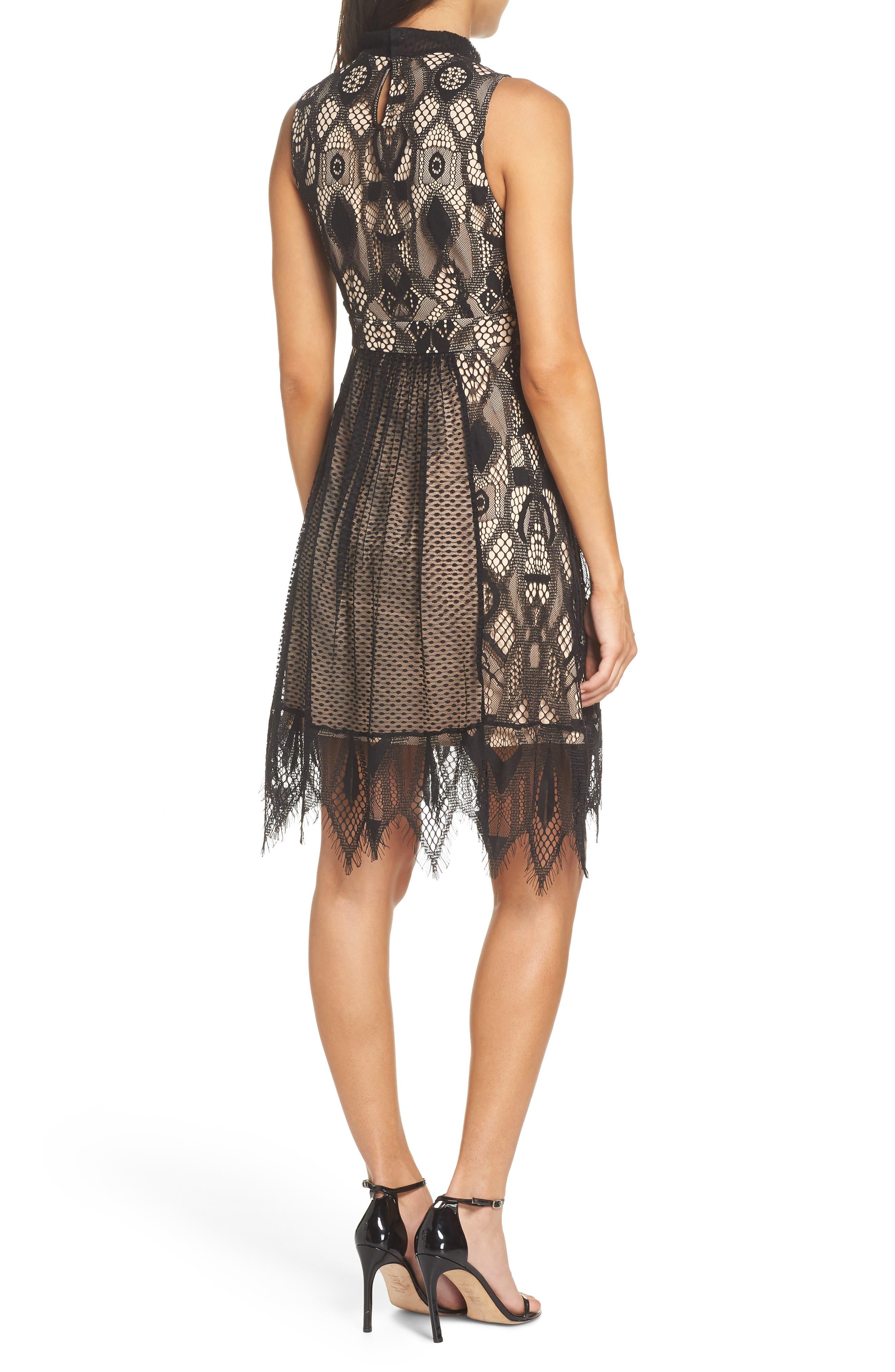 Gloria Fit & Flare Dress,                             Alternate thumbnail 2, color,                             001