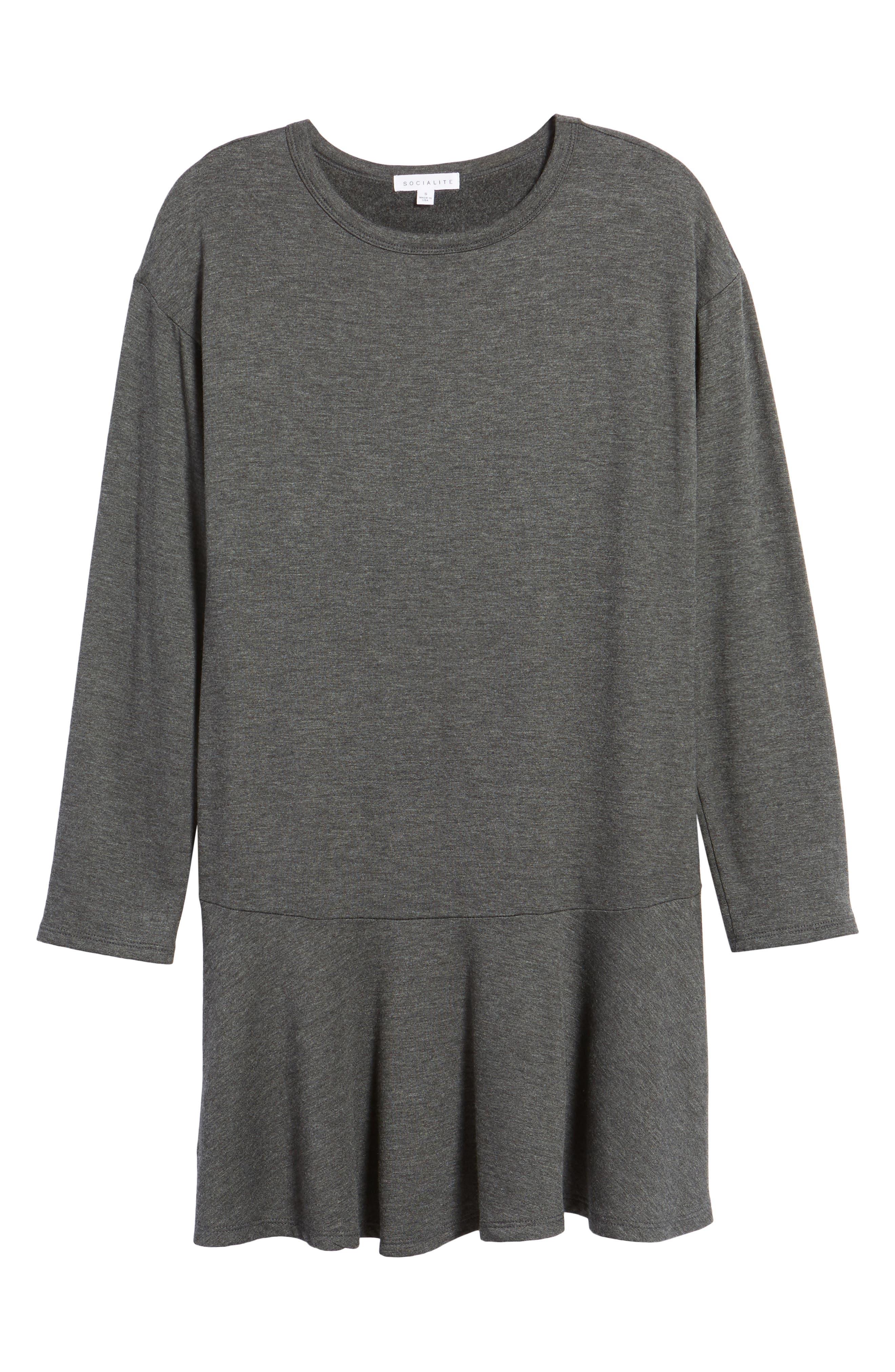 Drop Waist Sweatshirt Dress,                             Alternate thumbnail 6, color,                             020