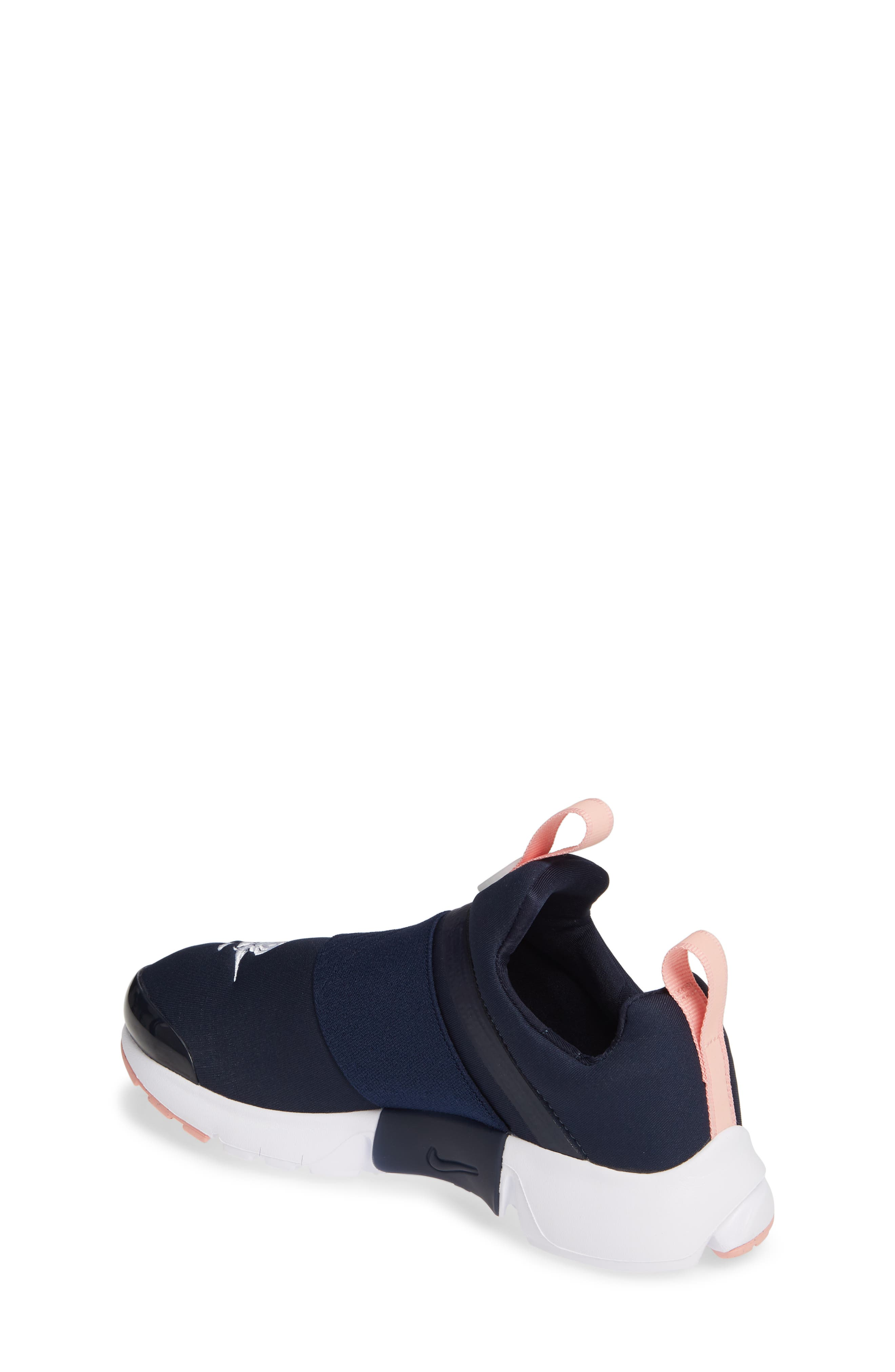 NIKE,                             Presto Extreme VDAY Sneaker,                             Alternate thumbnail 2, color,                             OBSIDIAN/ BLEACHED CORAL-WHITE