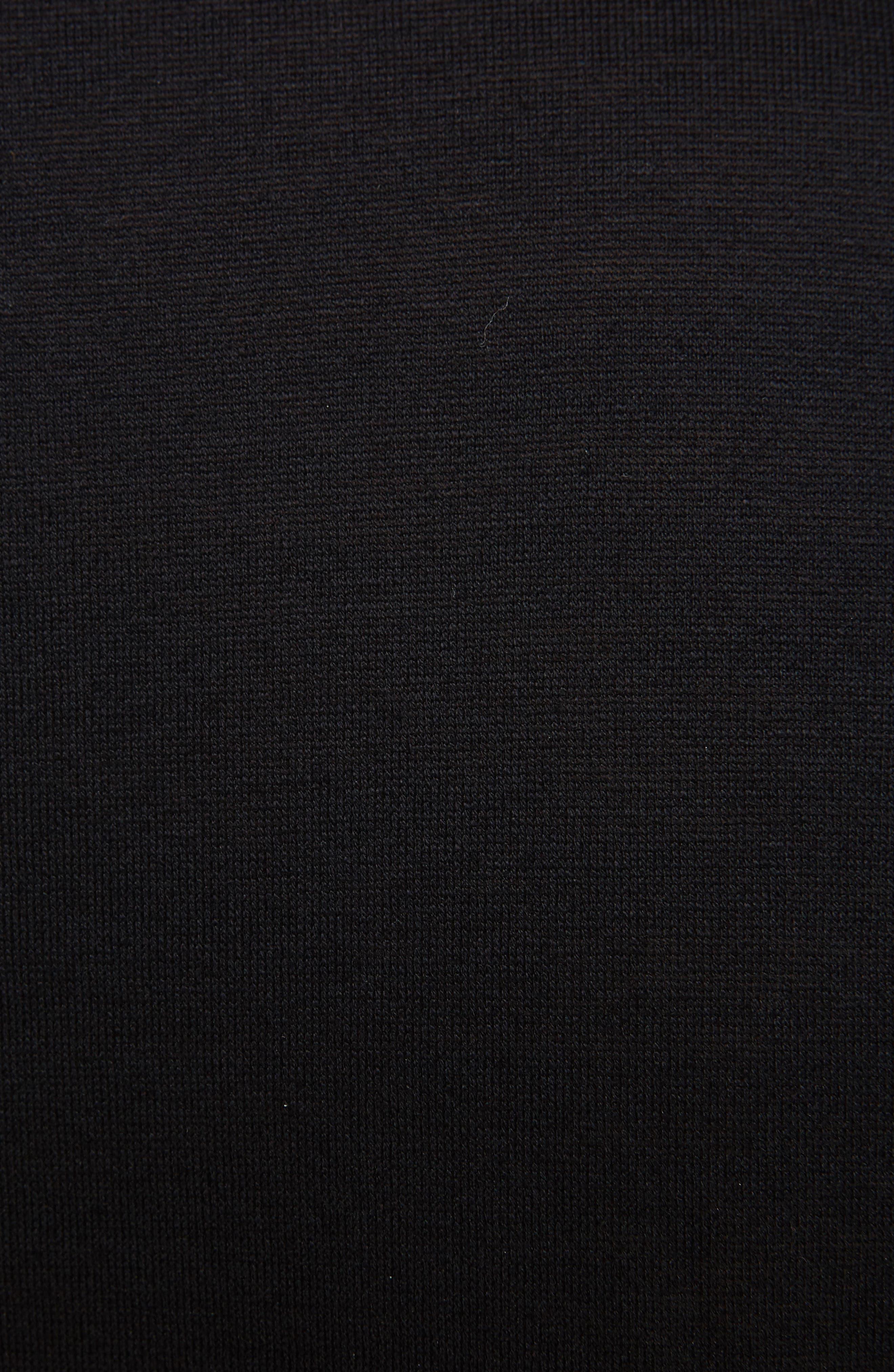 Reflective Tape Logo T-Shirt,                             Alternate thumbnail 5, color,                             BLACK