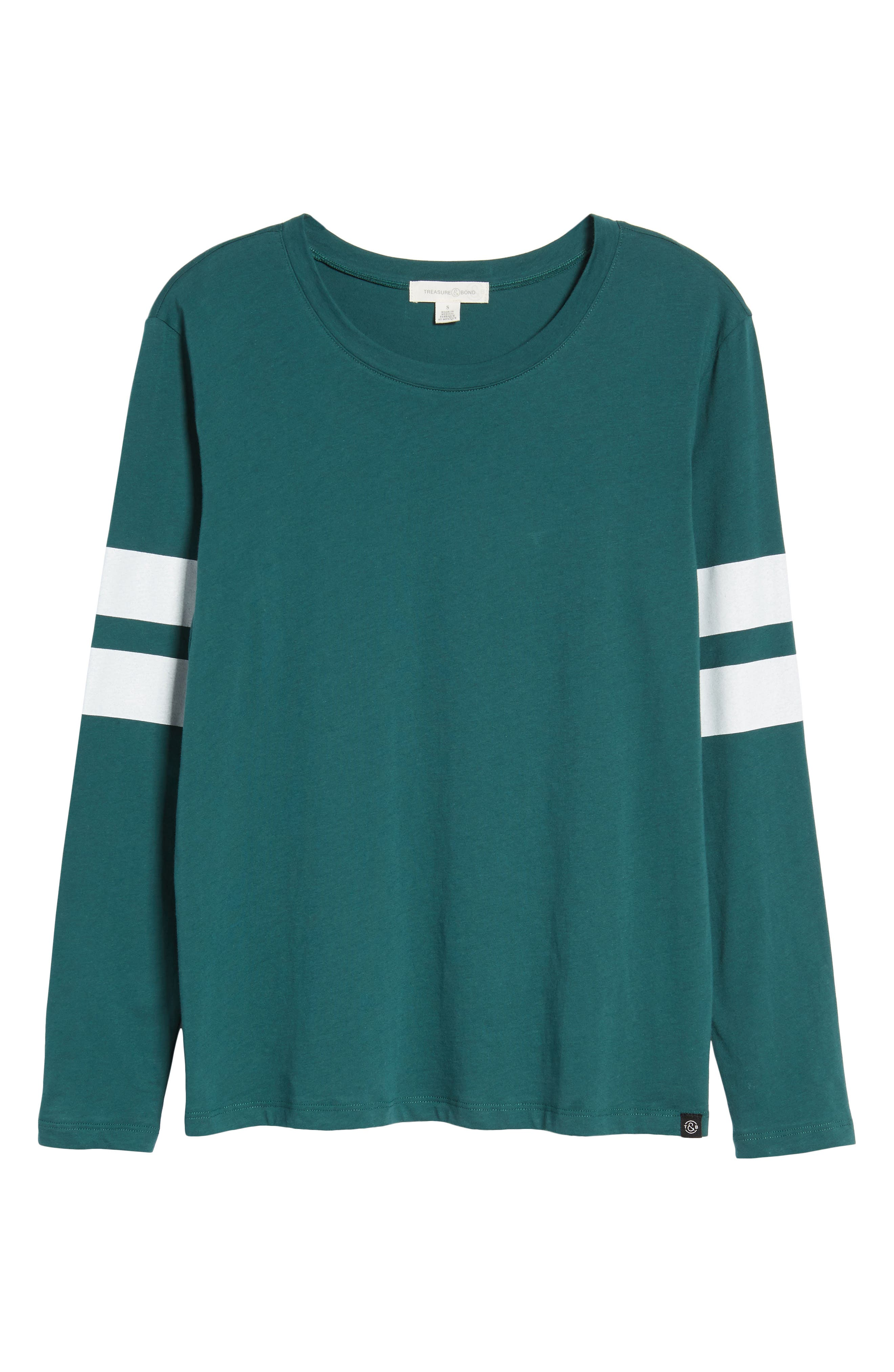 Varsity Stripe Cotton Tee,                             Alternate thumbnail 115, color,