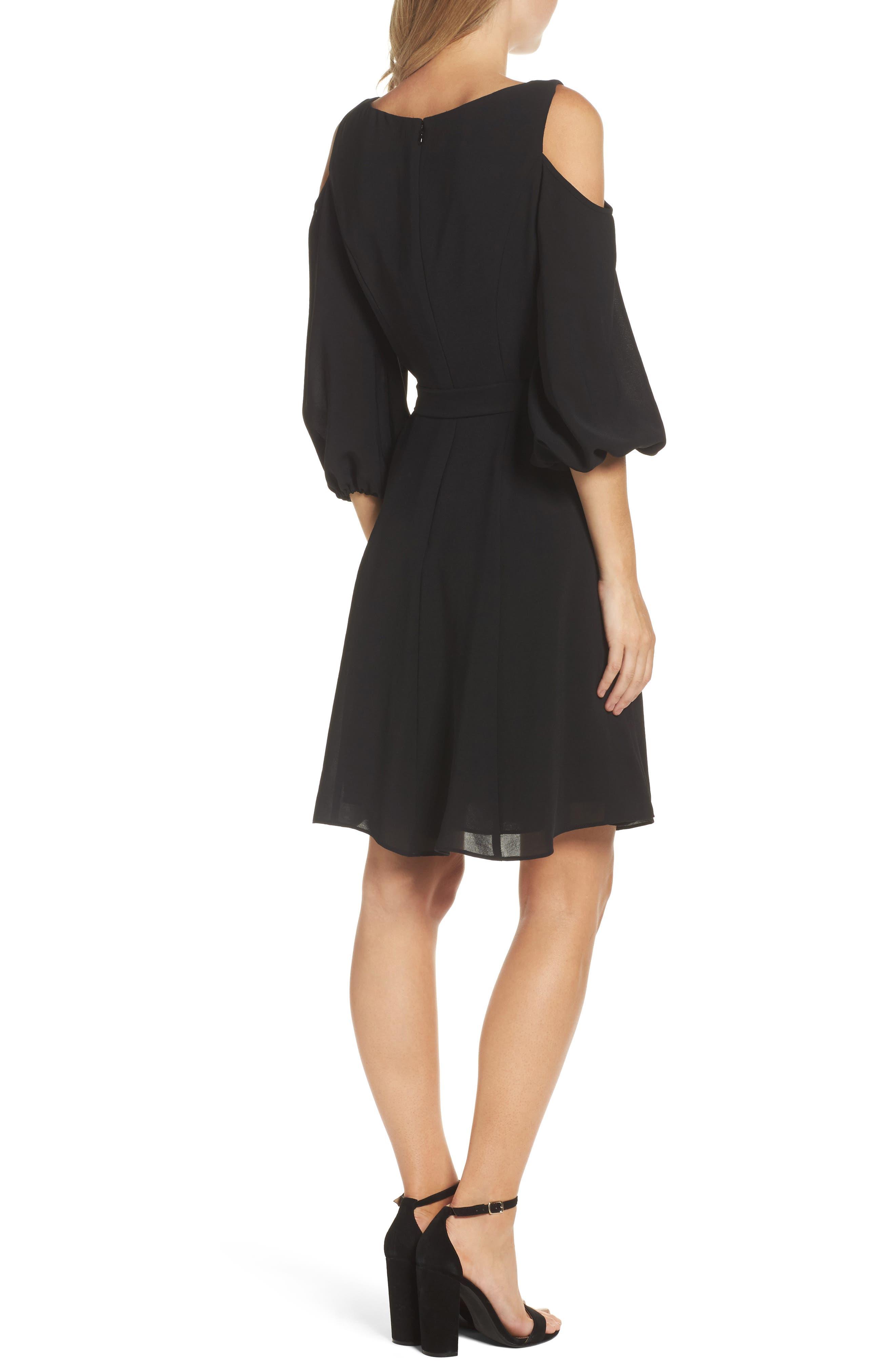 Cold Shoulder Dress,                             Alternate thumbnail 2, color,                             002