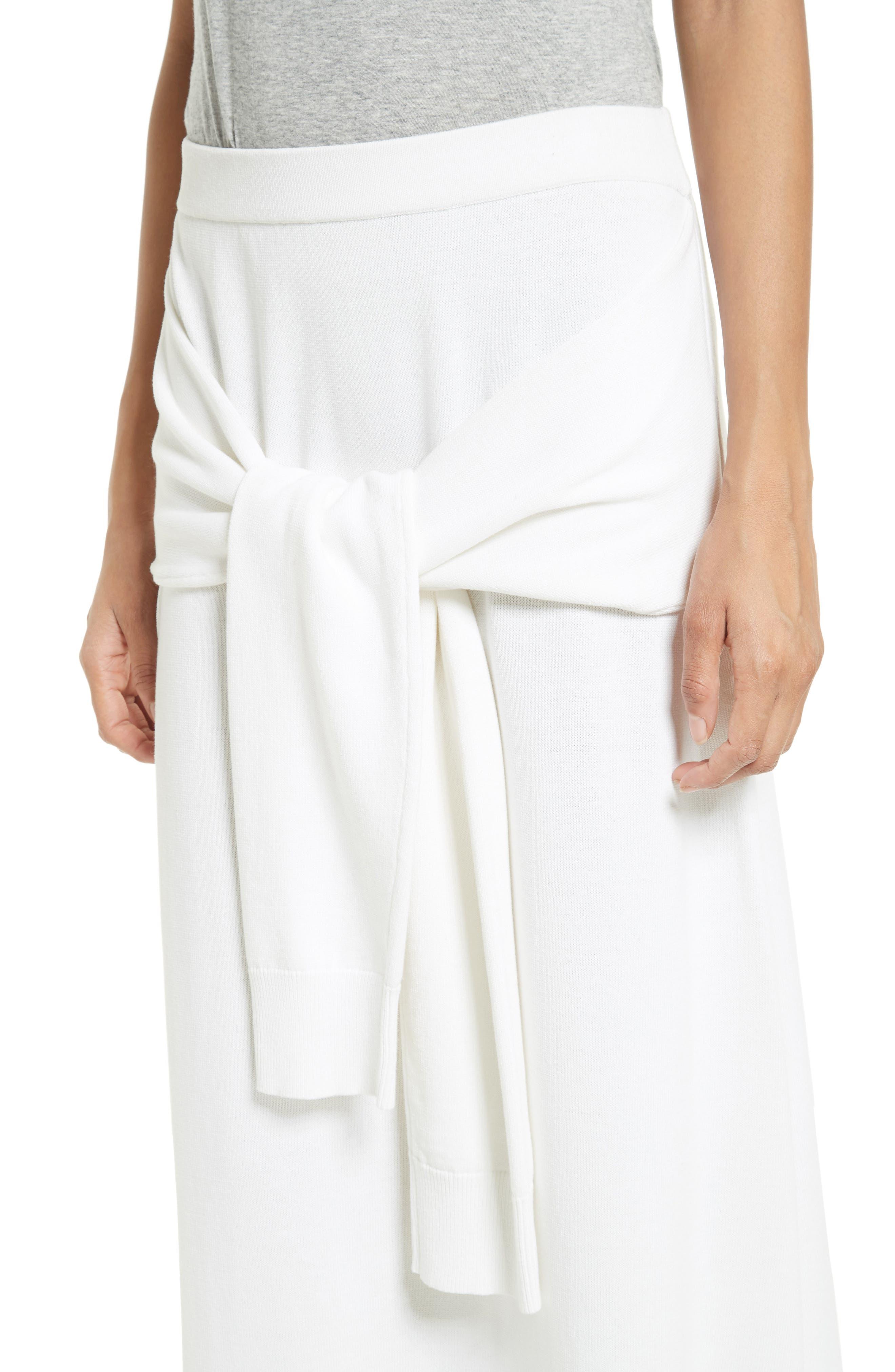 Tie Detail Knit Maxi Skirt,                             Alternate thumbnail 4, color,                             110