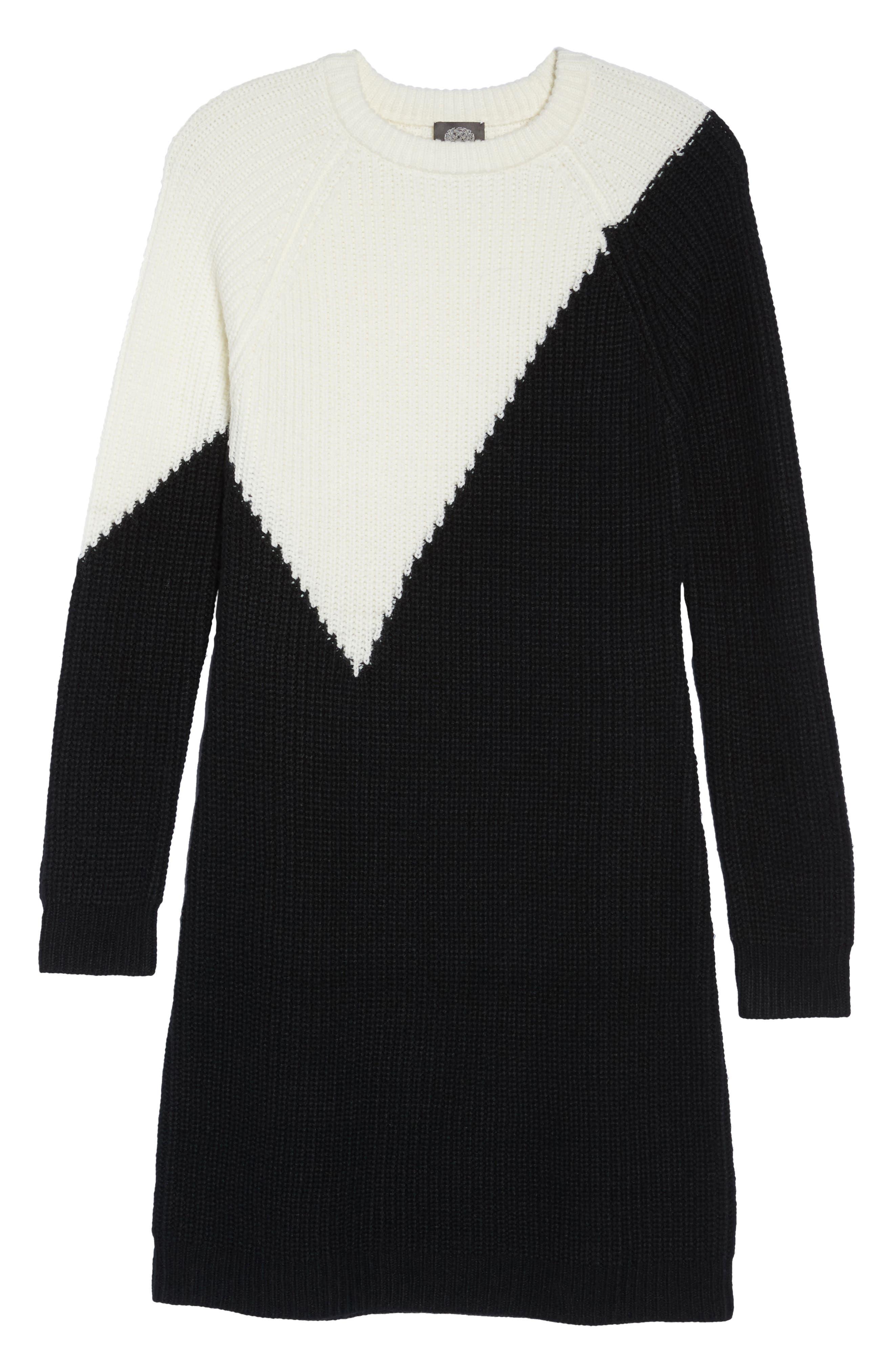 Colorblock Sweater Dress,                             Alternate thumbnail 6, color,                             010