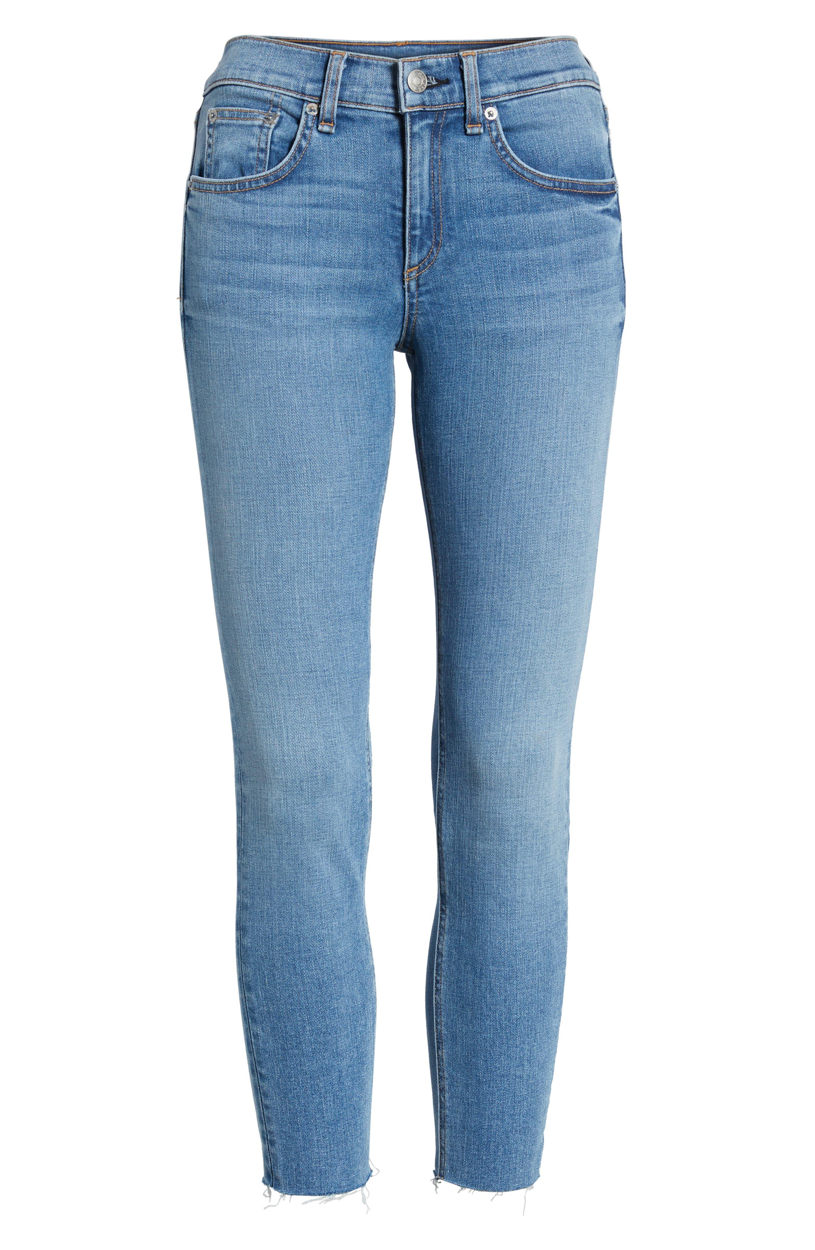 Crop Skinny Jeans,                             Alternate thumbnail 7, color,                             424