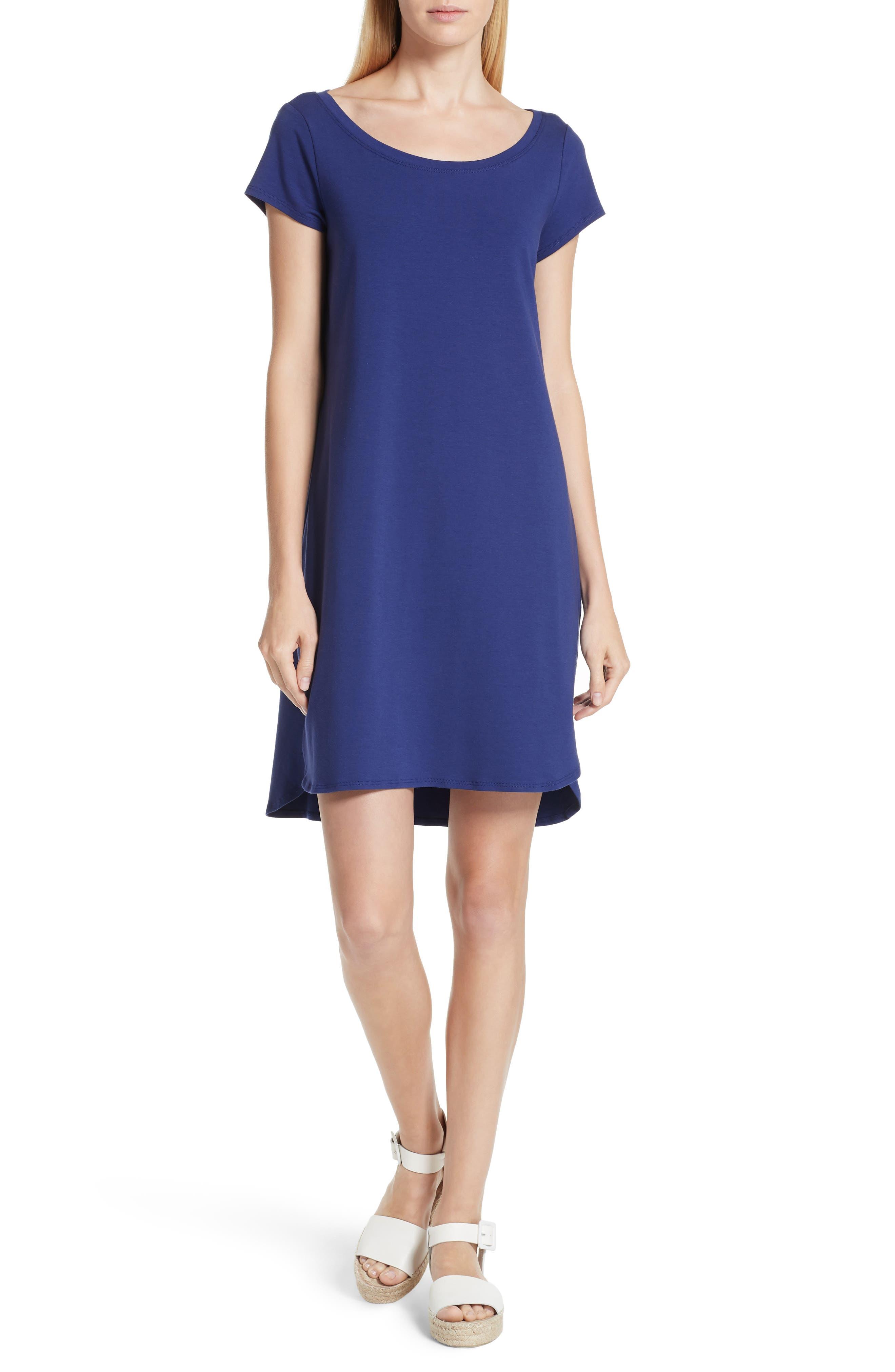 Stretch Cotton Shift Dress,                         Main,                         color,