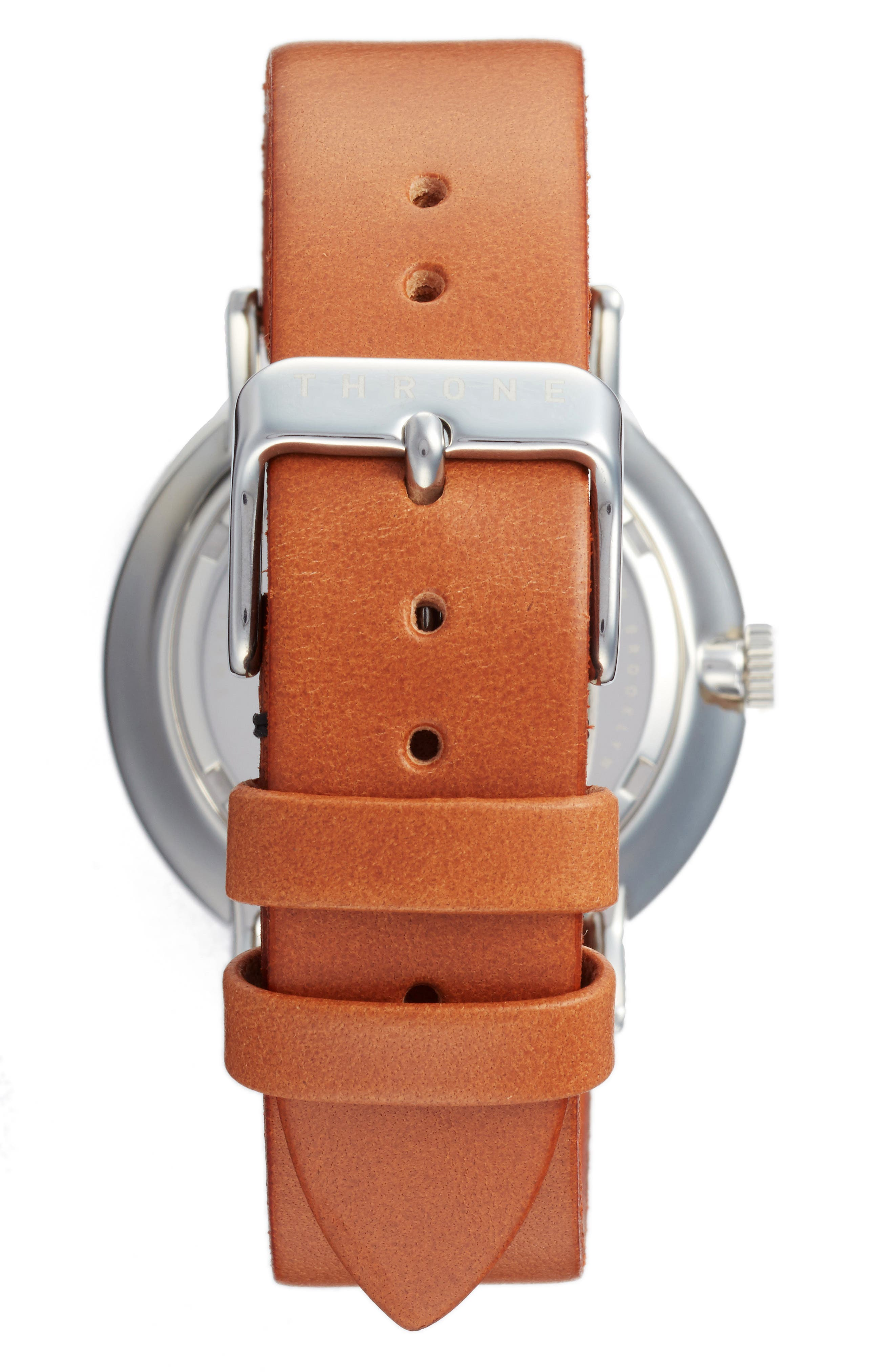 1.0 Leather Strap Watch, 40mm,                             Alternate thumbnail 7, color,