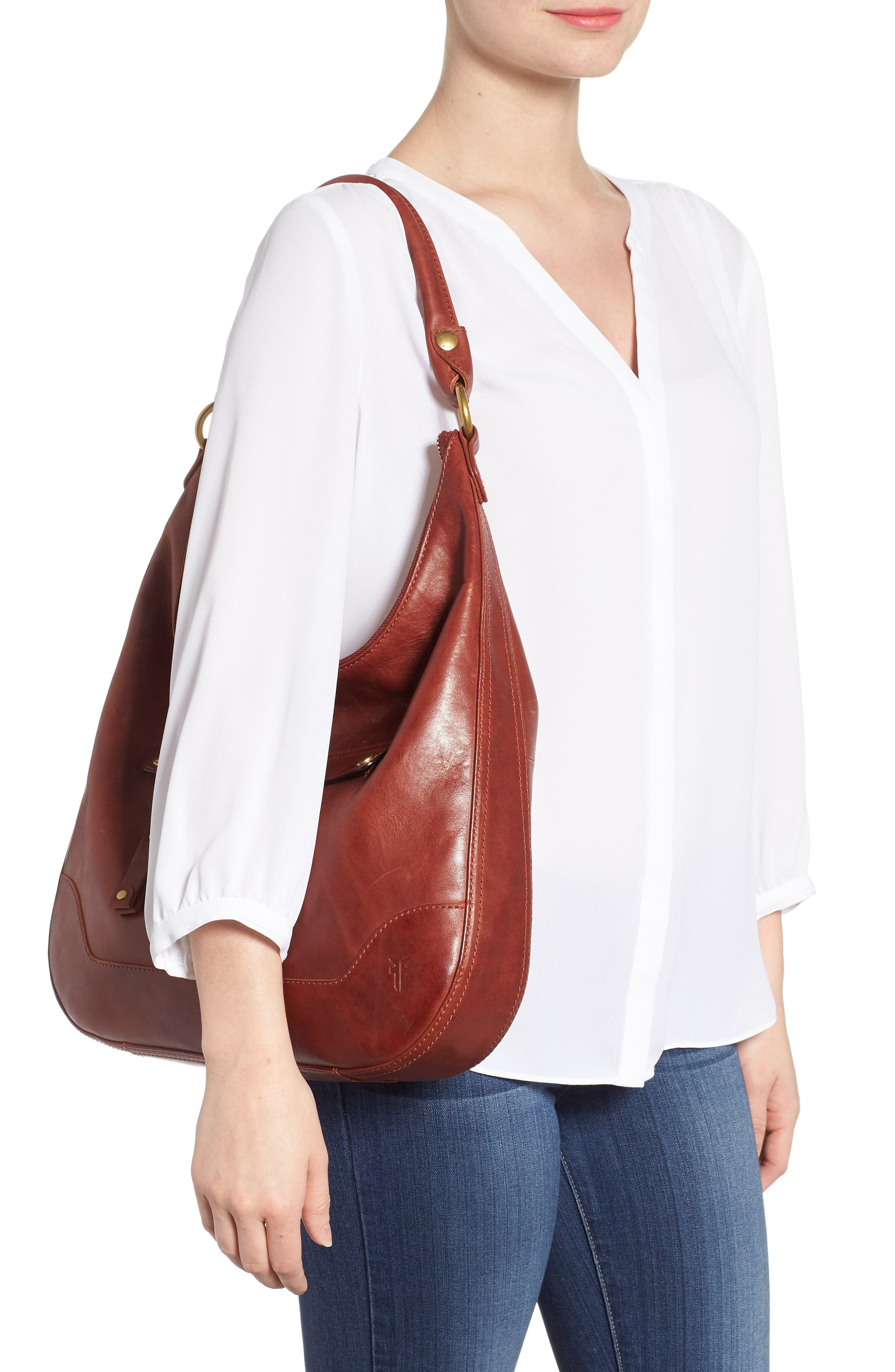 Melissa Large Leather Hobo,                             Alternate thumbnail 2, color,                             600