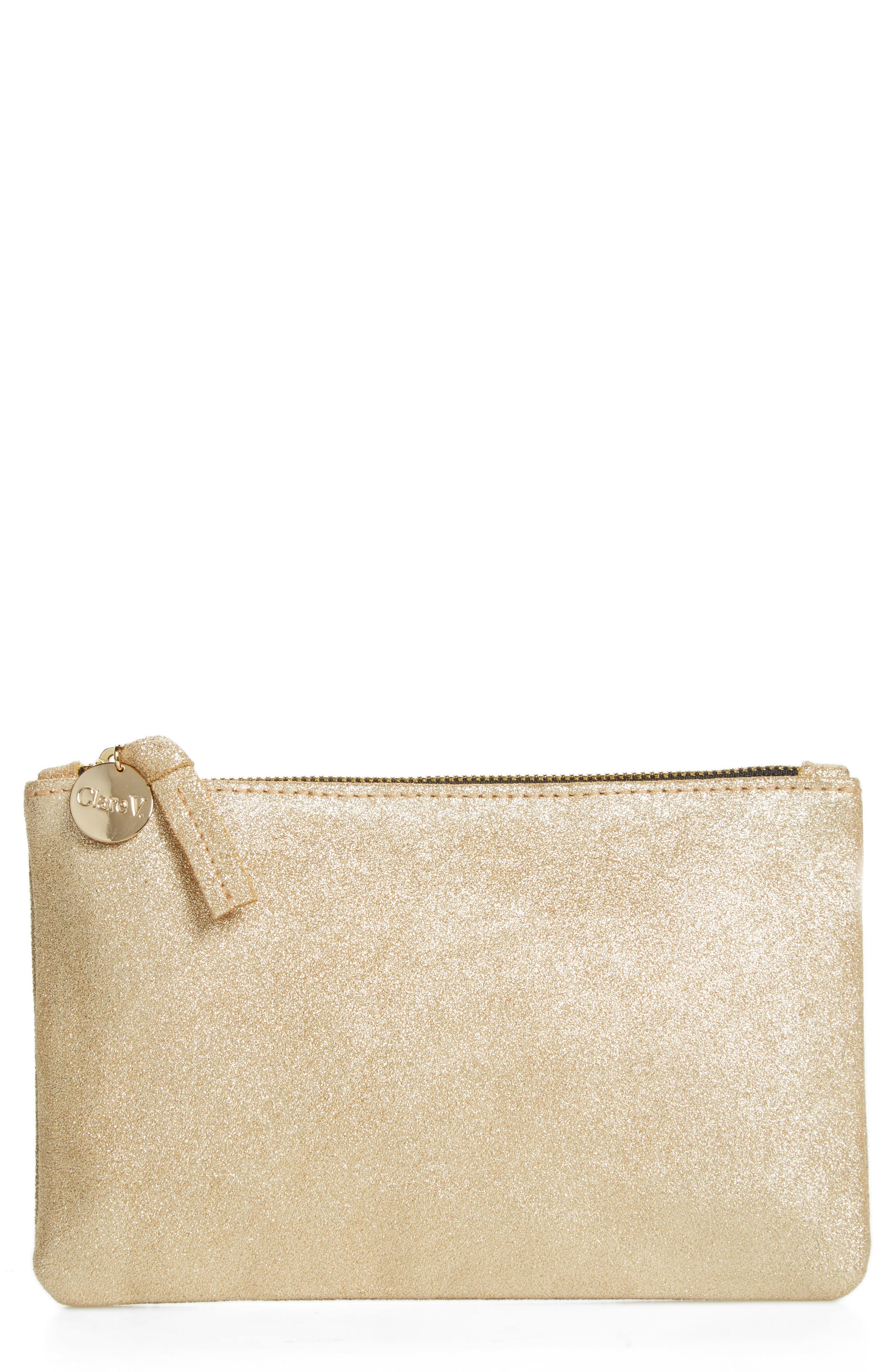 Shimmer Suede Wallet Clutch,                             Main thumbnail 1, color,                             710