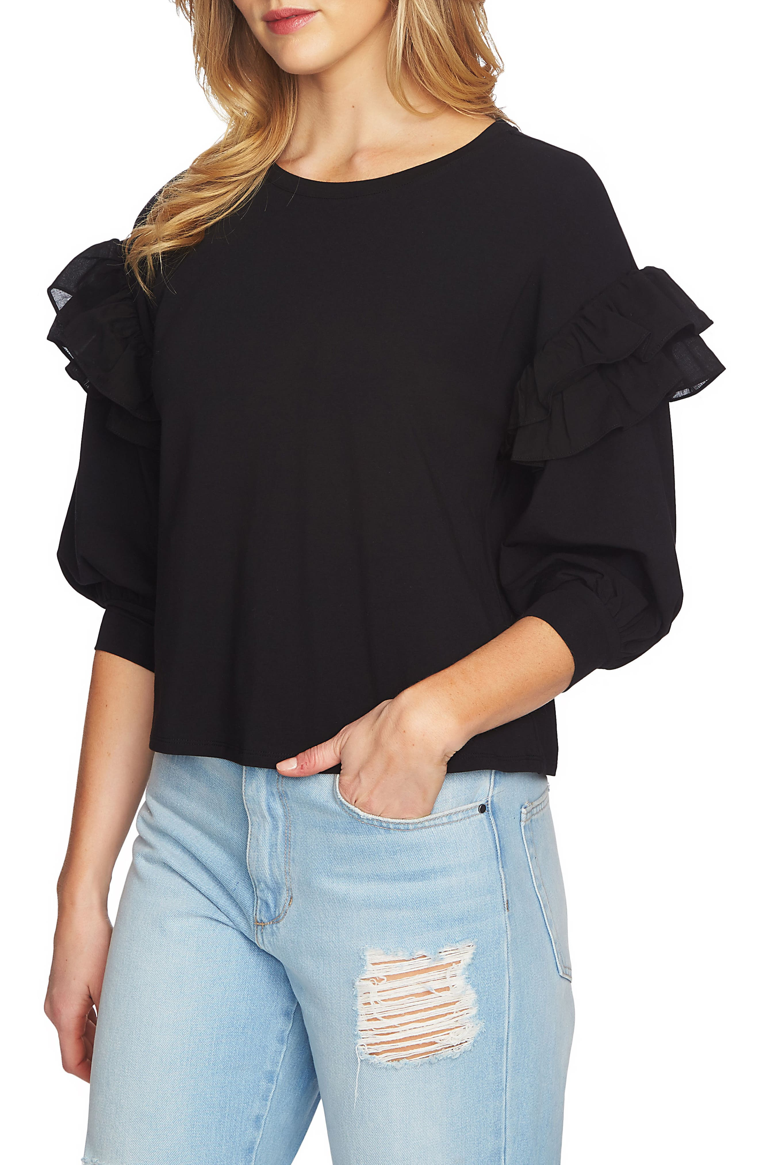 Ruffle Pullover,                             Alternate thumbnail 5, color,