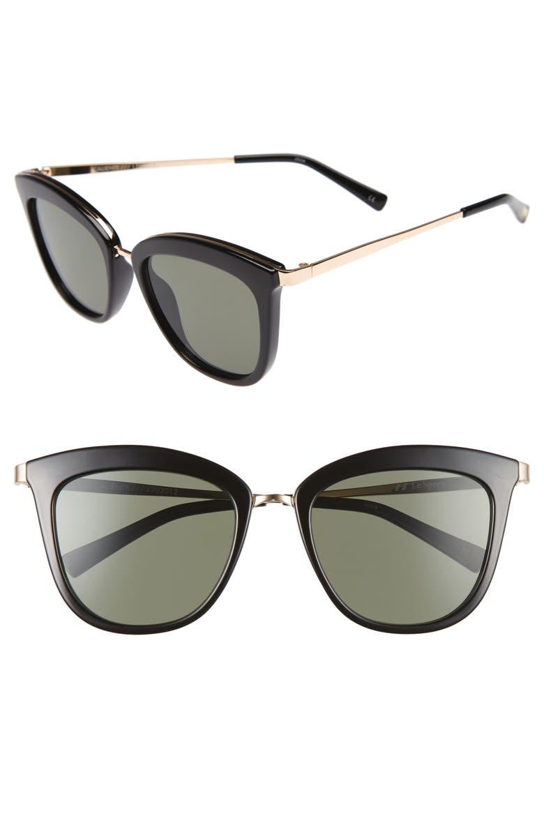 0aeb34f815a1 Le Specs Caliente 53Mm Cat Eye Sunglasses - Black  Gold